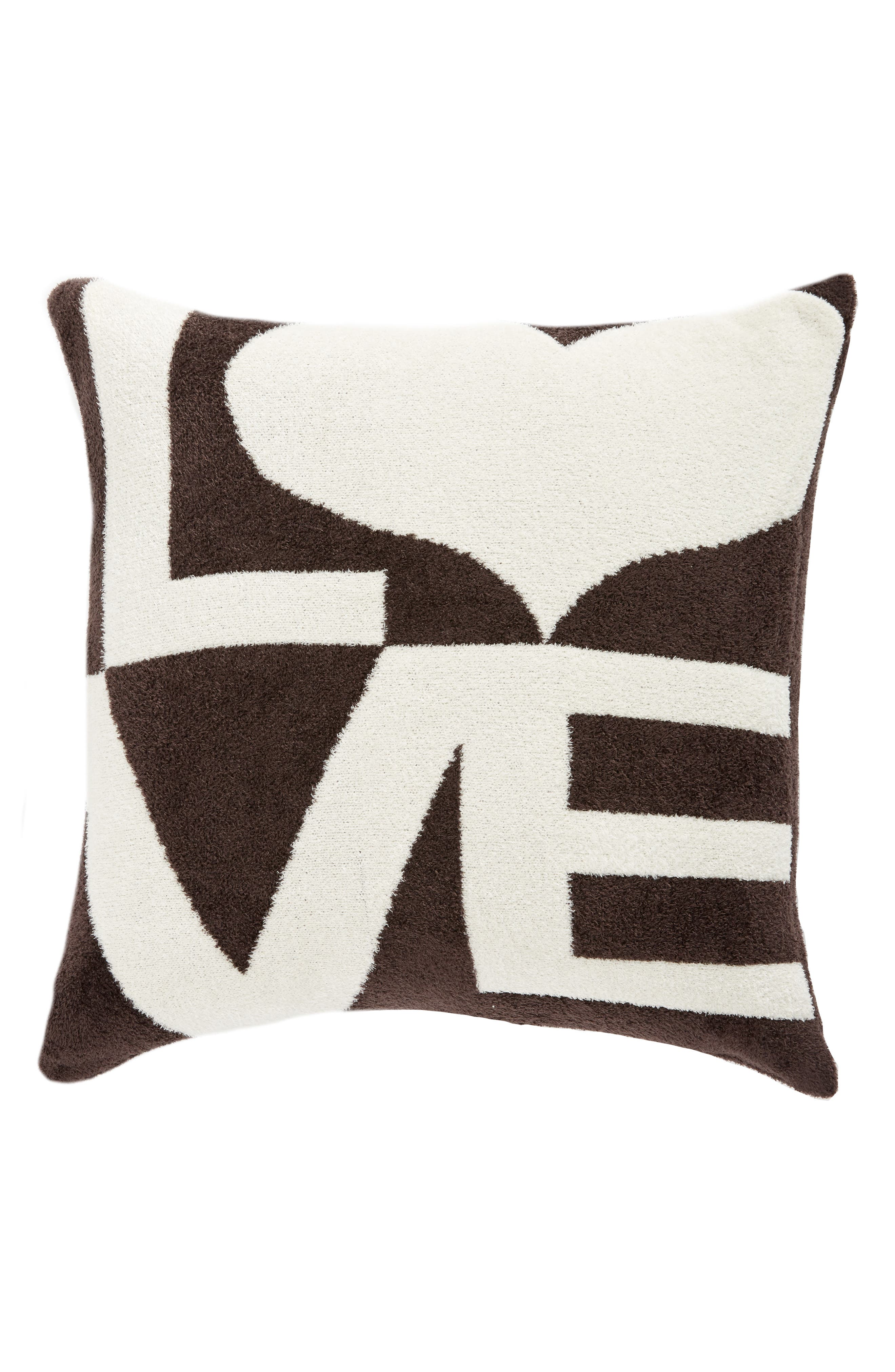 Dolce Love Throw Pillow,                             Main thumbnail 1, color,                             CHOCOLATE