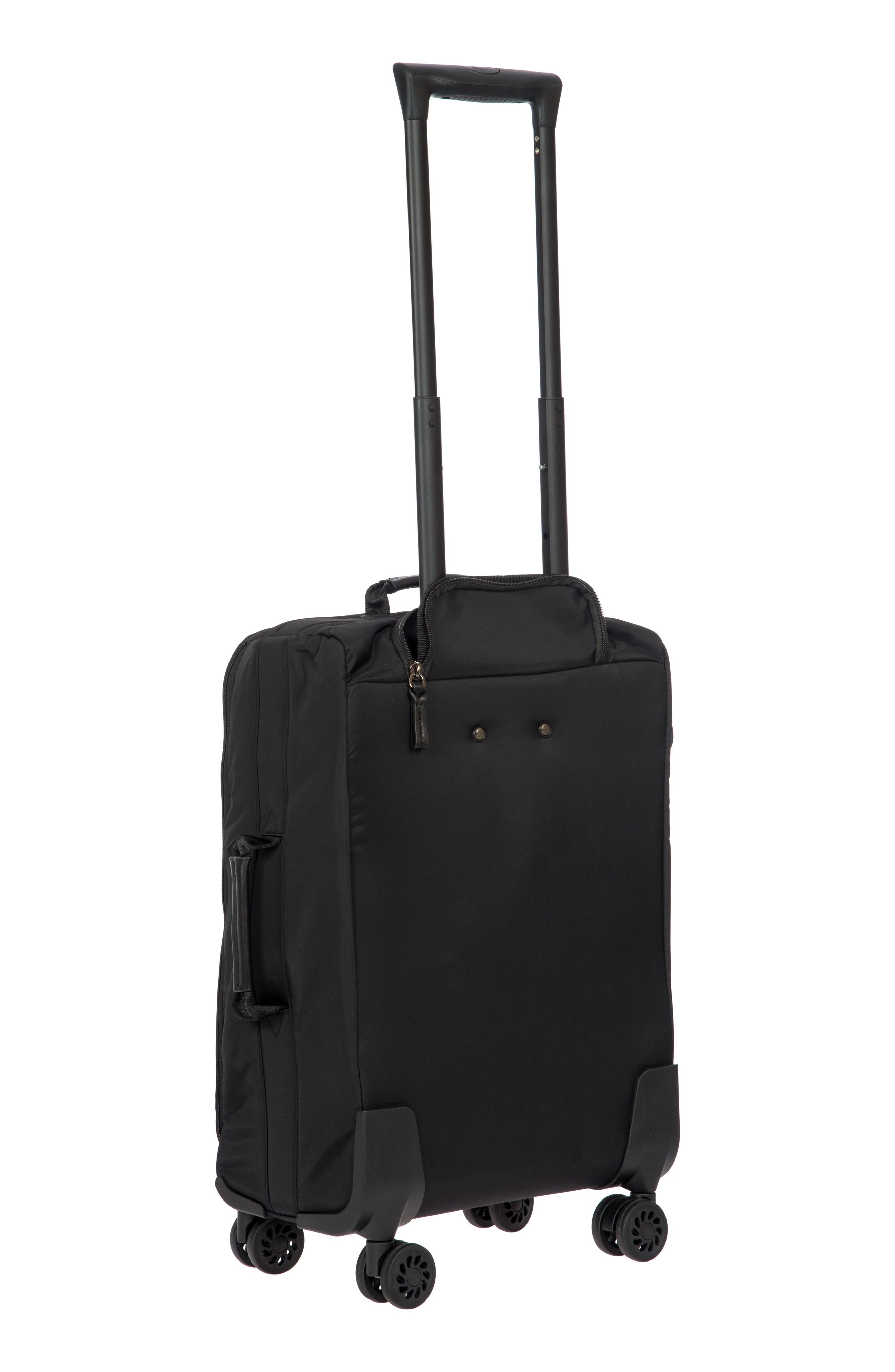 X-Bag 21-Inch Spinner Carry-On,                             Alternate thumbnail 4, color,                             BLACK/ BLACK