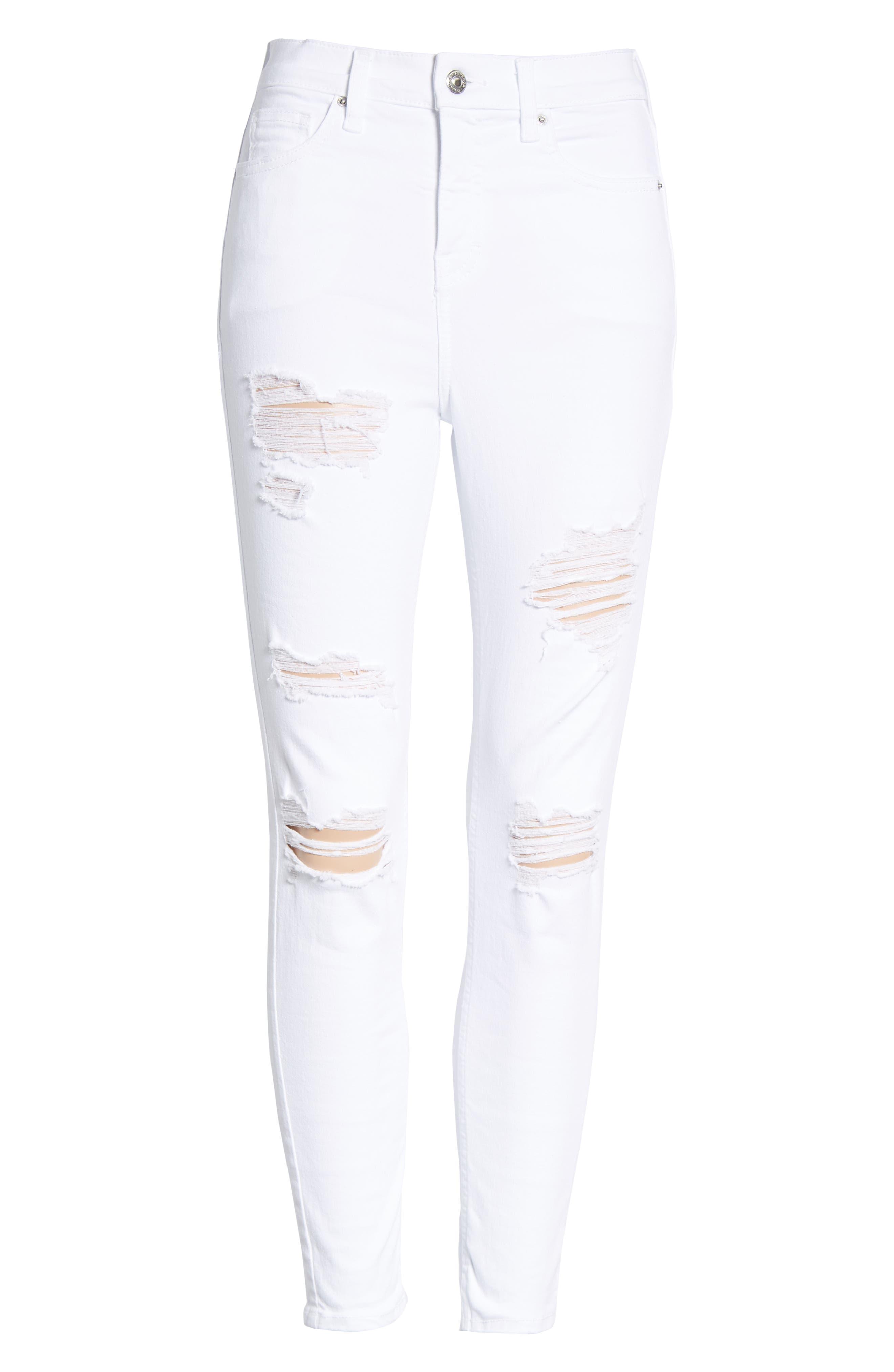 Jamie Super Rip Jeans,                             Alternate thumbnail 7, color,                             100