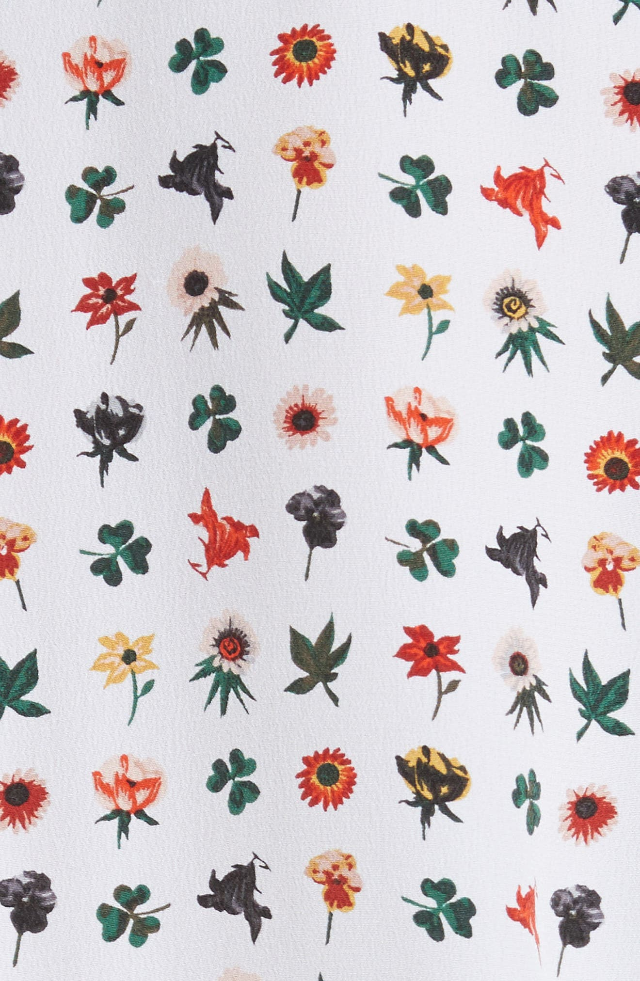 Signature Print Silk Shirt,                             Alternate thumbnail 5, color,                             118