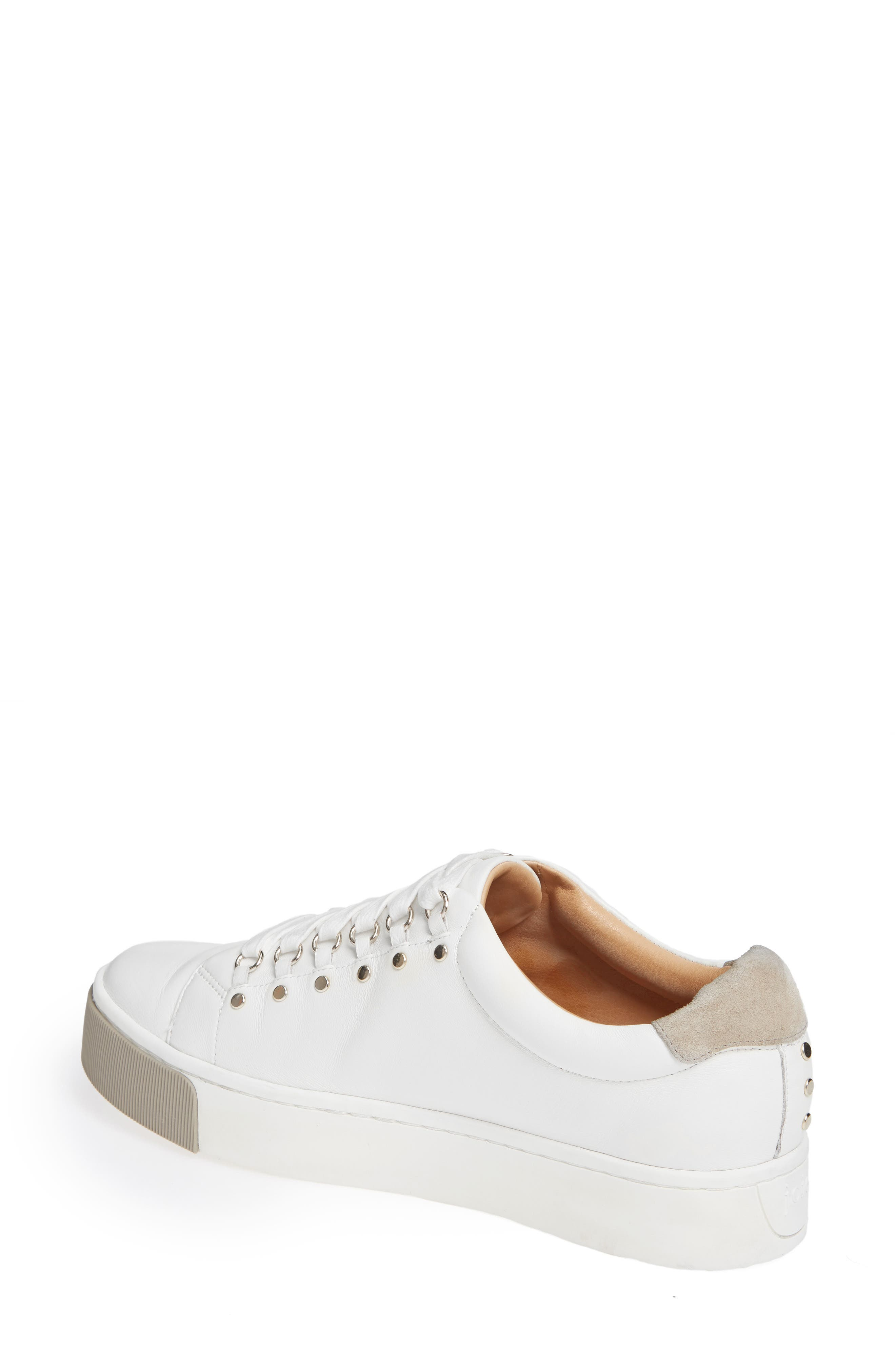 Handan Lace-Up Sneaker,                             Alternate thumbnail 2, color,                             WHITE