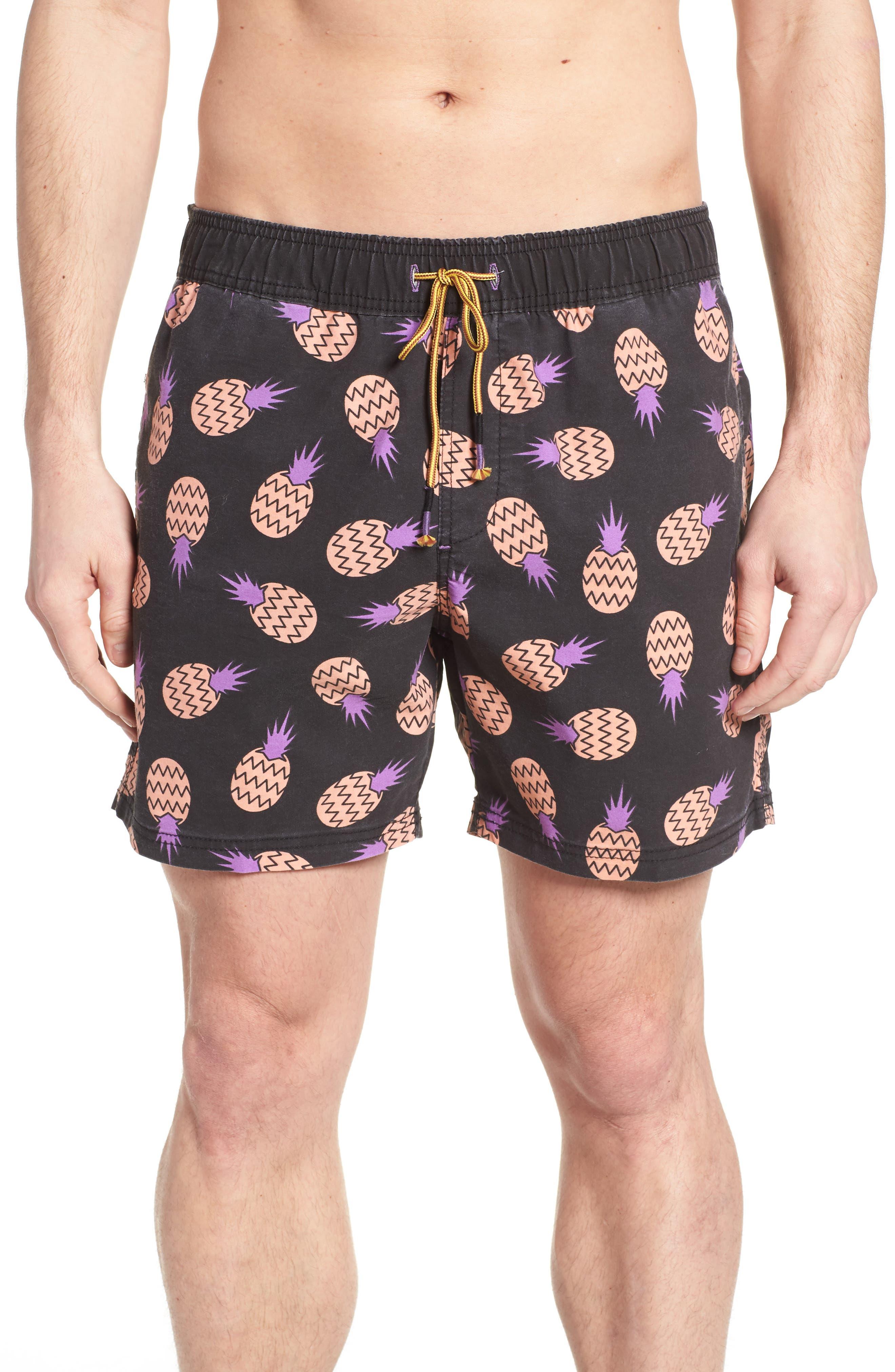 Juice Beaver Swim Trunks,                             Main thumbnail 1, color,                             001