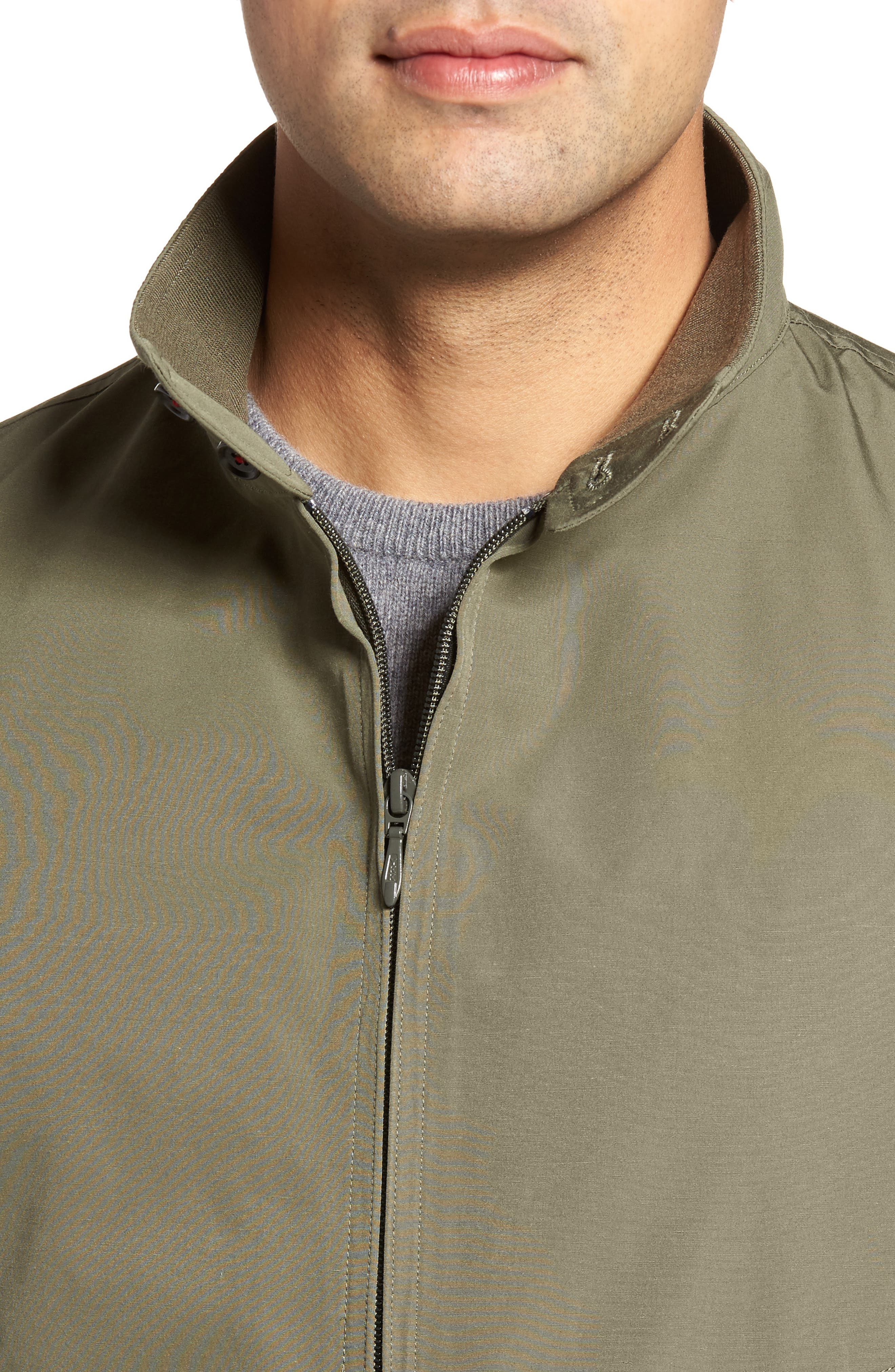 Water-Repellent Zip Front Jacket,                             Alternate thumbnail 4, color,                             374