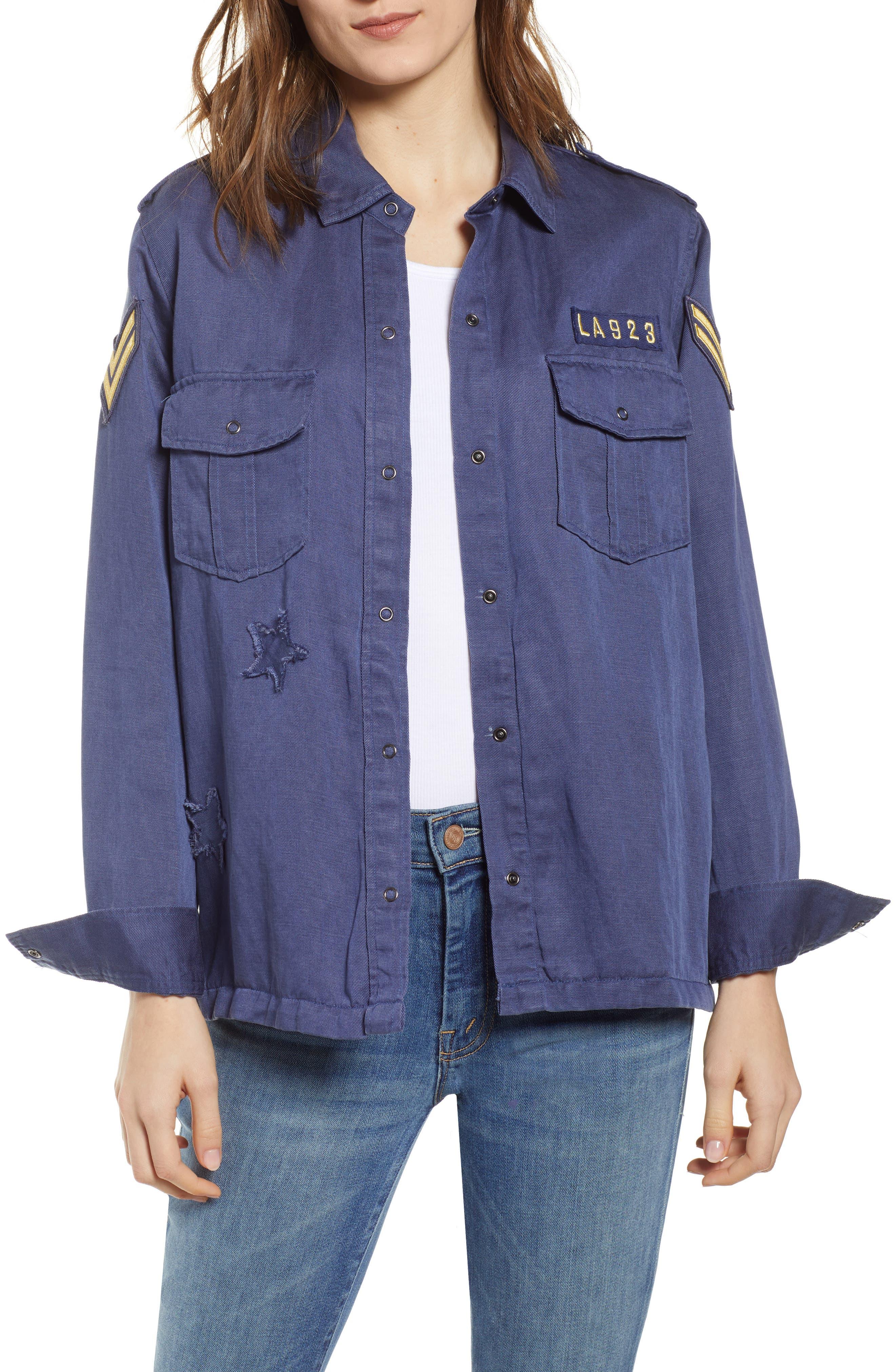 Kato Military Shirt,                             Main thumbnail 1, color,                             TOKYO BLUE
