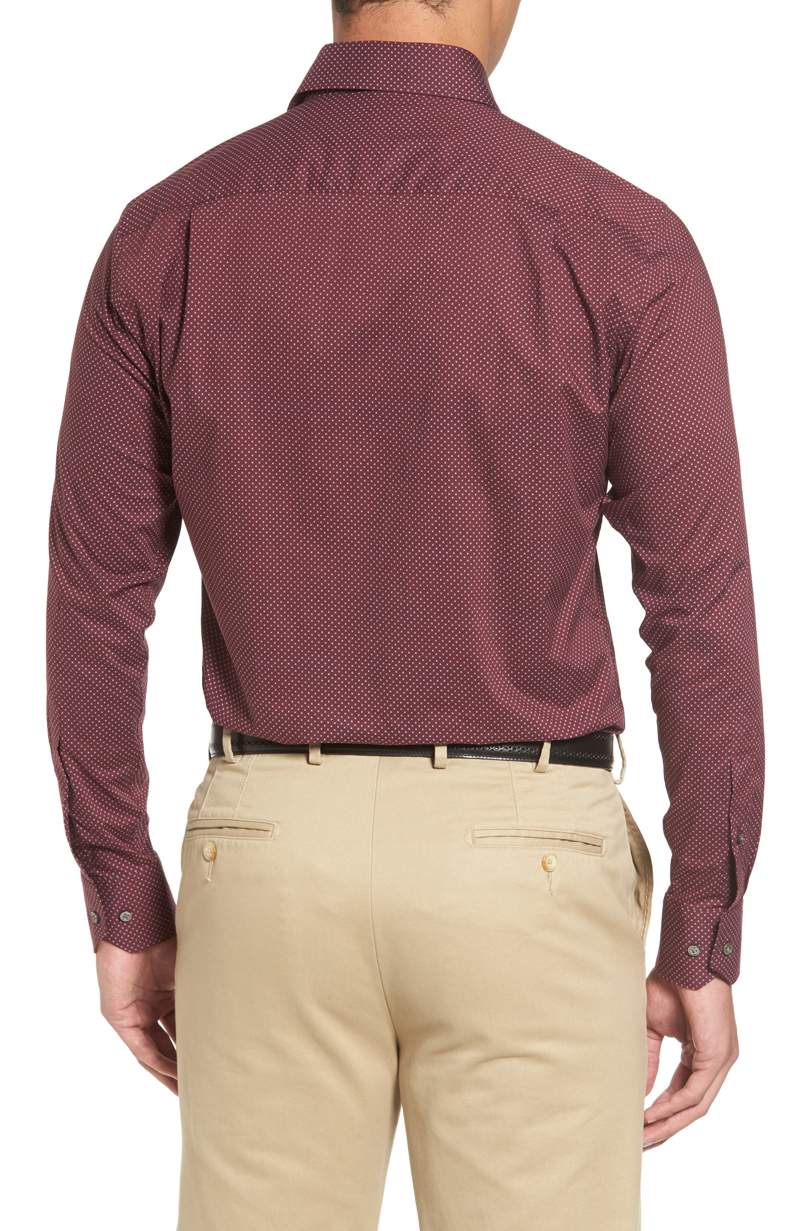 Peter Millar Woodland Fjord Regular Fit Print Sport Shirt,                             Alternate thumbnail 2, color,