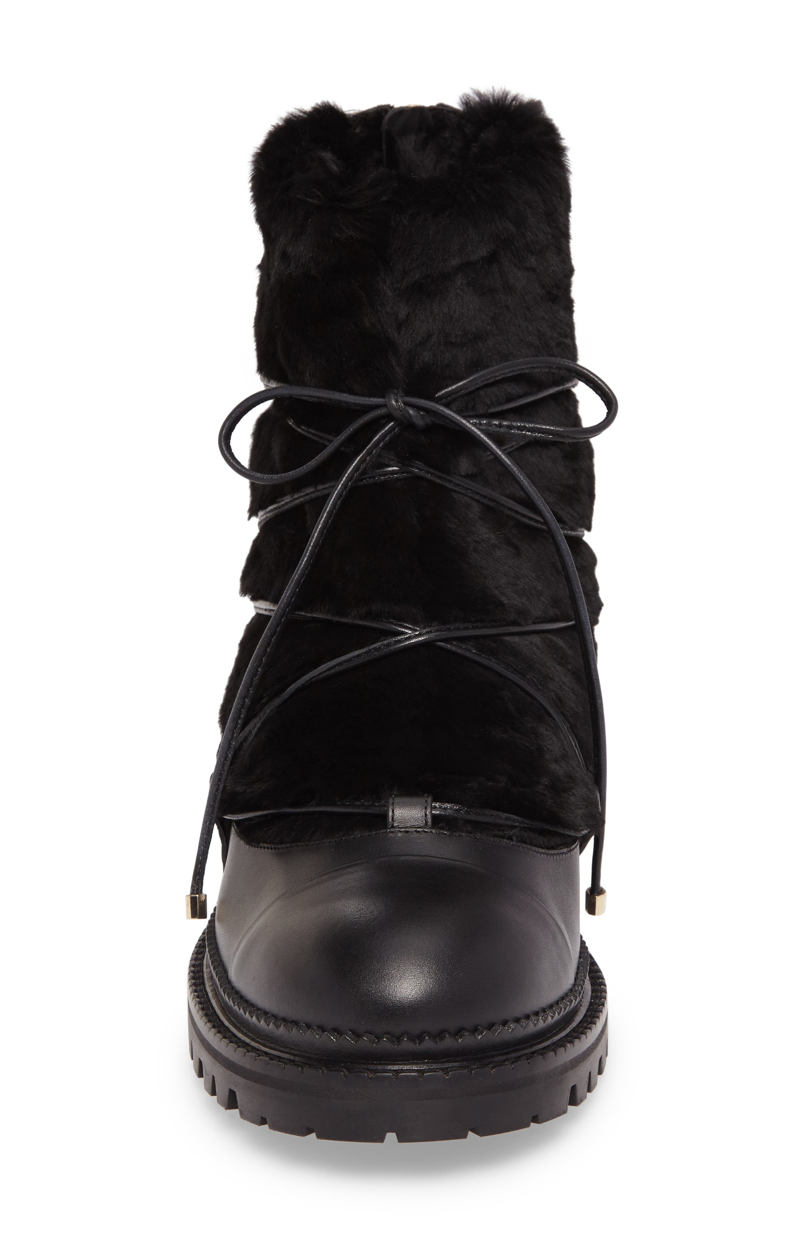 Darcie Genuine Shearling Boot,                             Alternate thumbnail 4, color,                             001