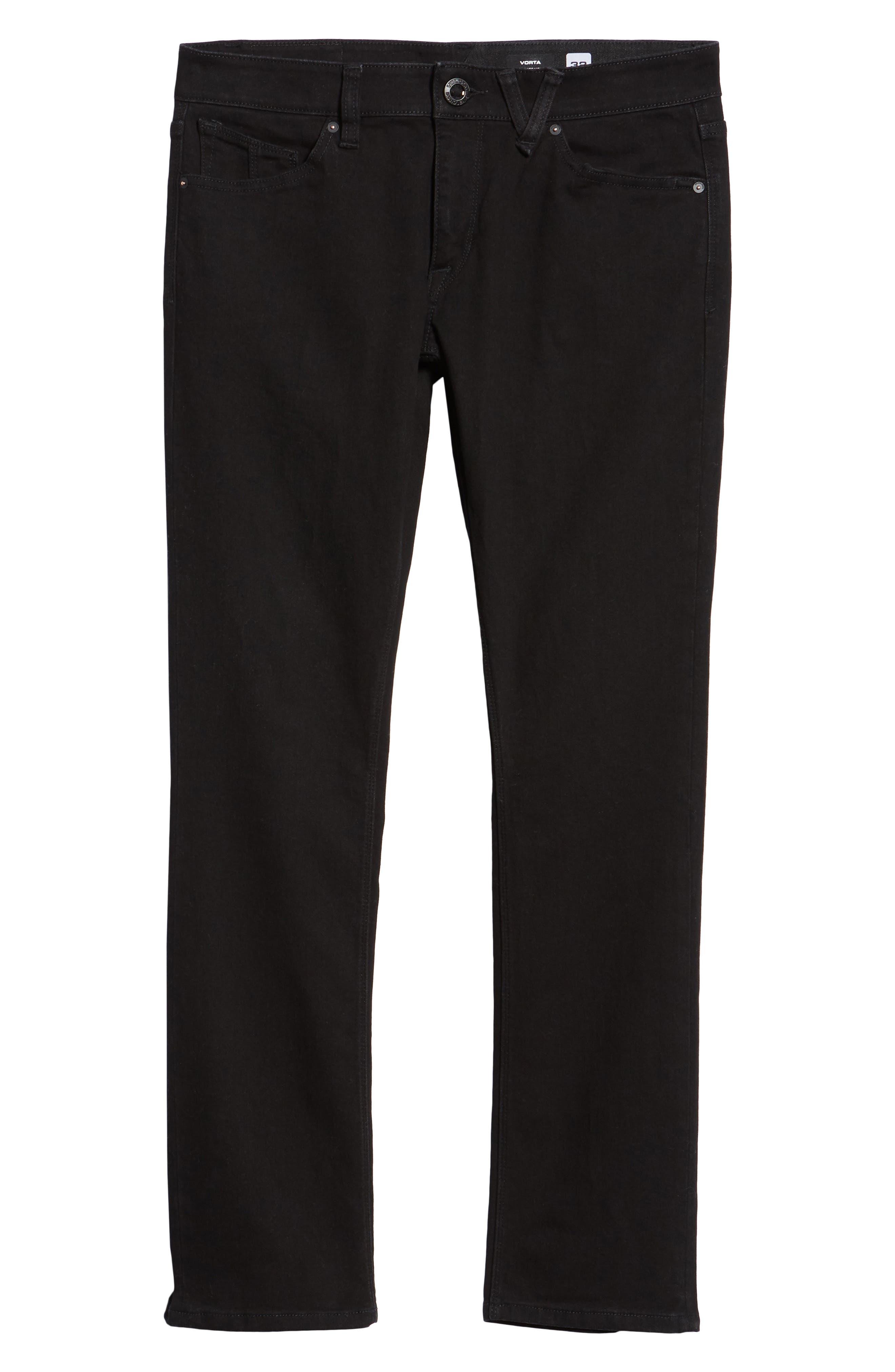 'Vorta' Slim Fit Jeans,                             Alternate thumbnail 6, color,                             BLACK OUT