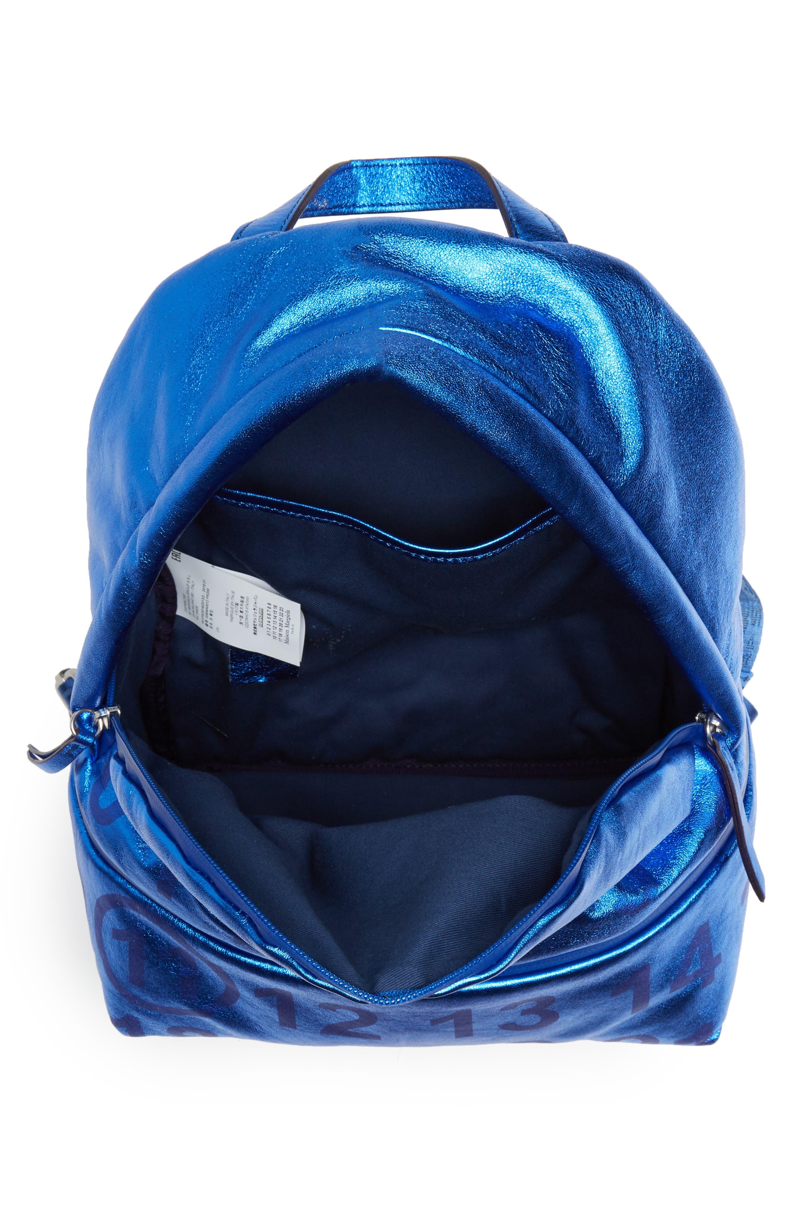 MAISON MARGIELA,                             Medium Number Print Backpack,                             Alternate thumbnail 4, color,                             DAZZLING BLUE