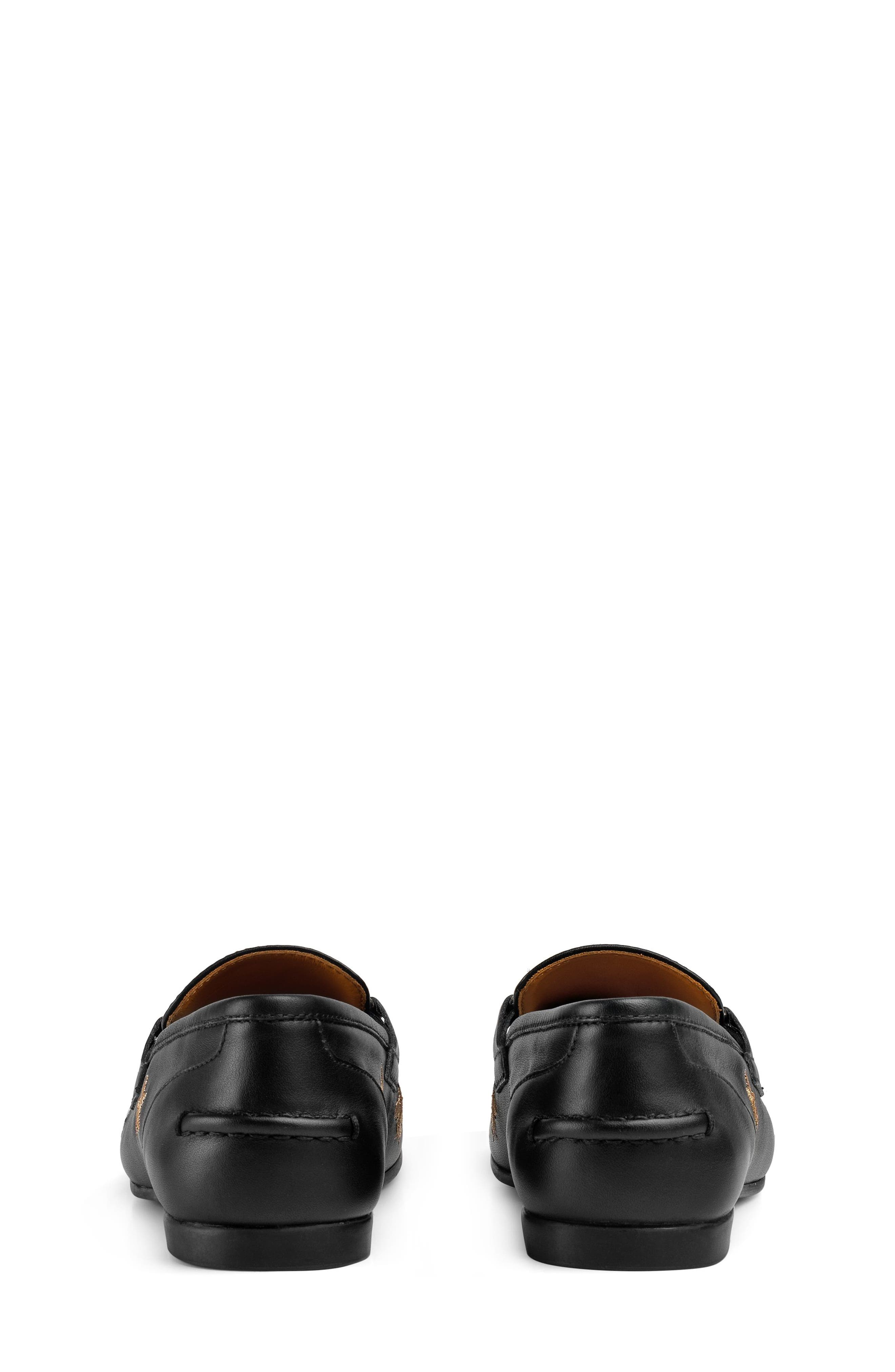 Jordaan Bit Loafer,                             Alternate thumbnail 5, color,                             BLACK