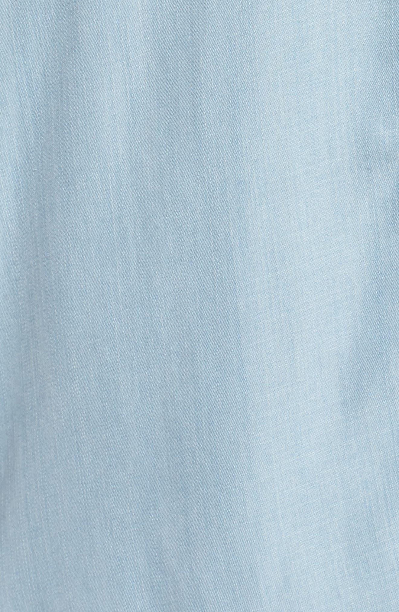 Brantley Indigo Shirtdress,                             Alternate thumbnail 5, color,