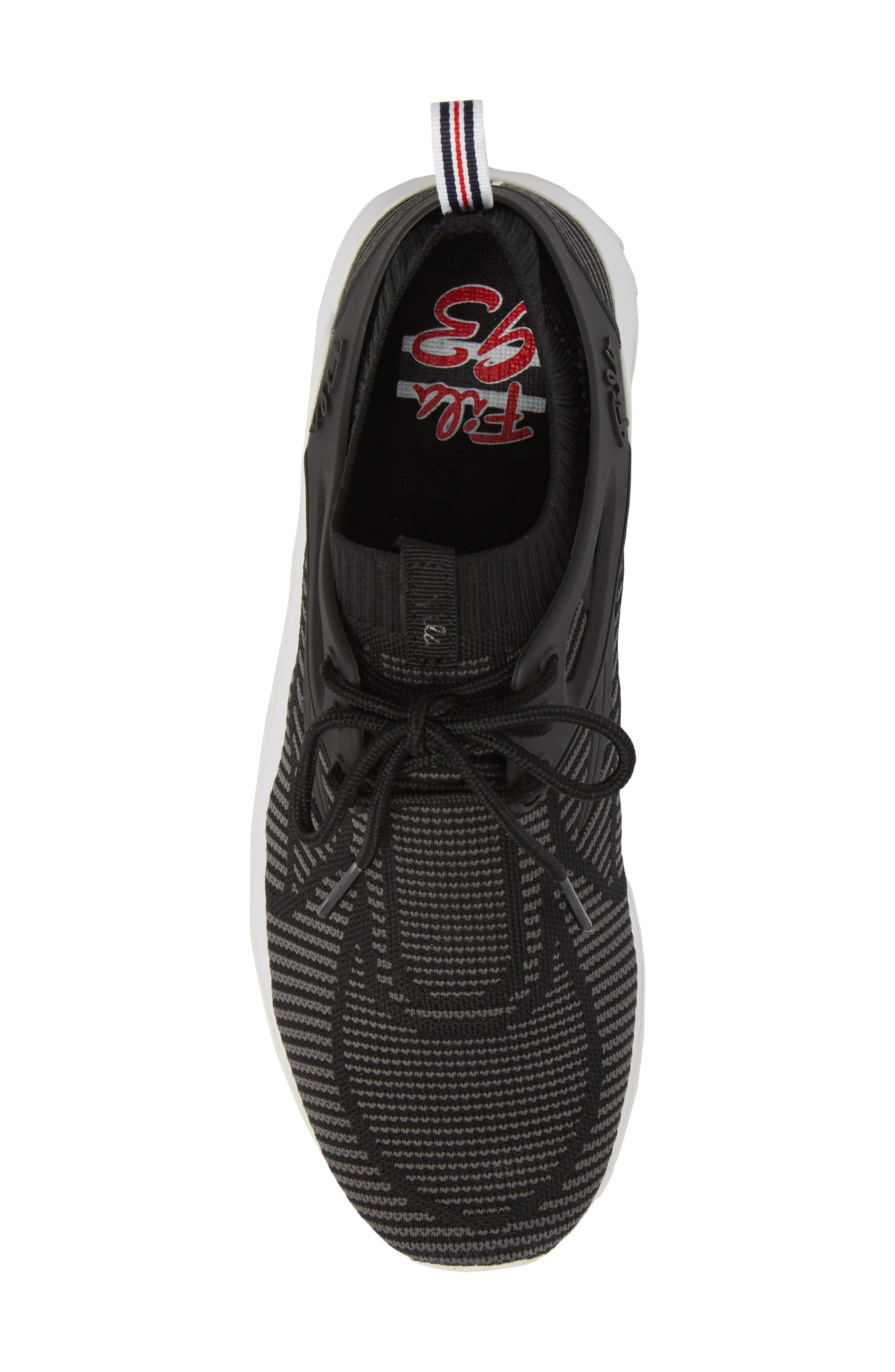 Overpass 2.0 Knit Sneaker,                             Alternate thumbnail 5, color,                             BLACK/ WHITE