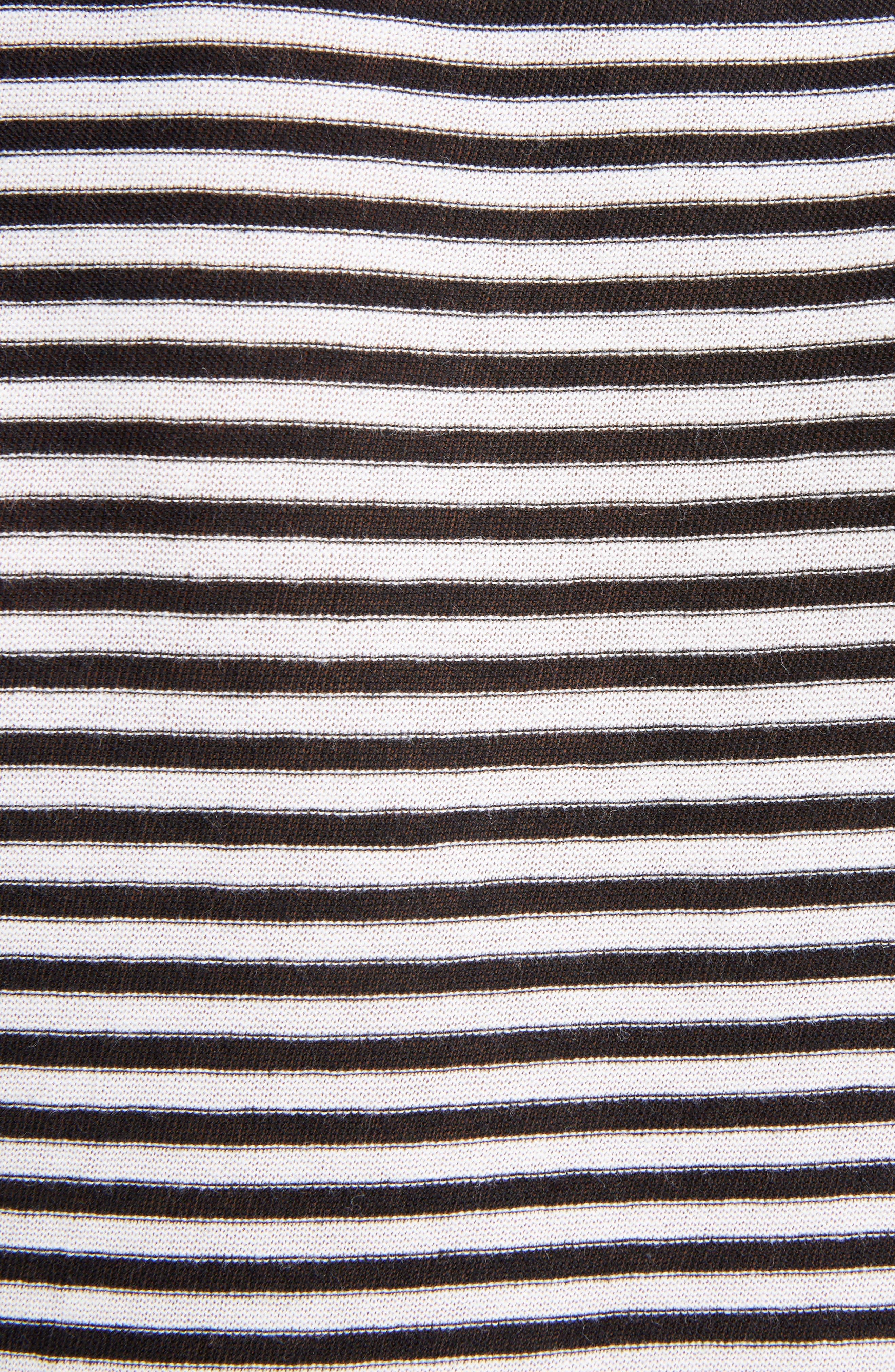 SAINT LAURENT,                             Logo Stripe Tee,                             Alternate thumbnail 5, color,                             NOIR/ NATUREL/ ROUGE