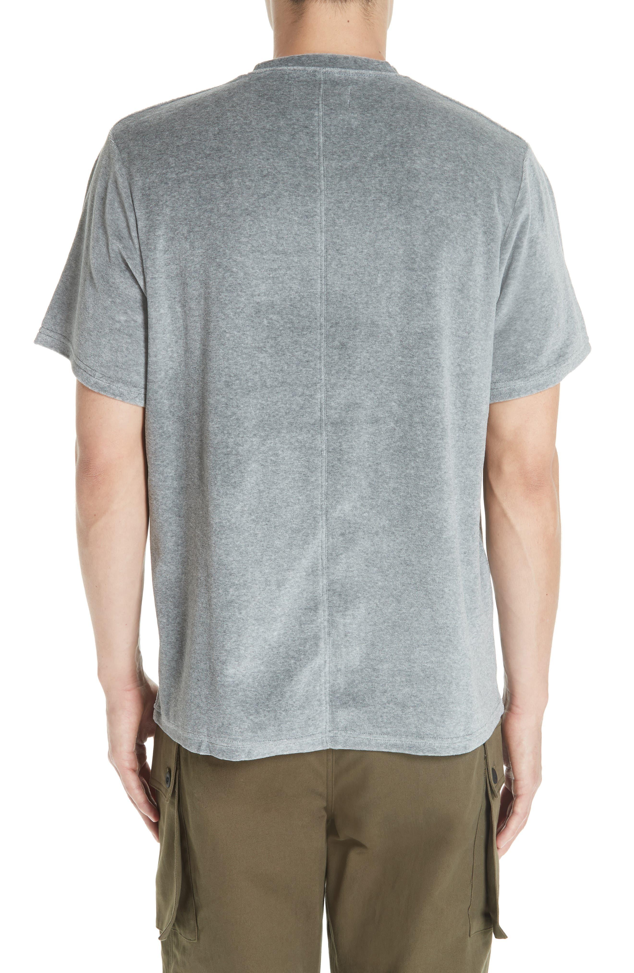 Velour T-Shirt,                             Alternate thumbnail 2, color,                             HEATHER GREY