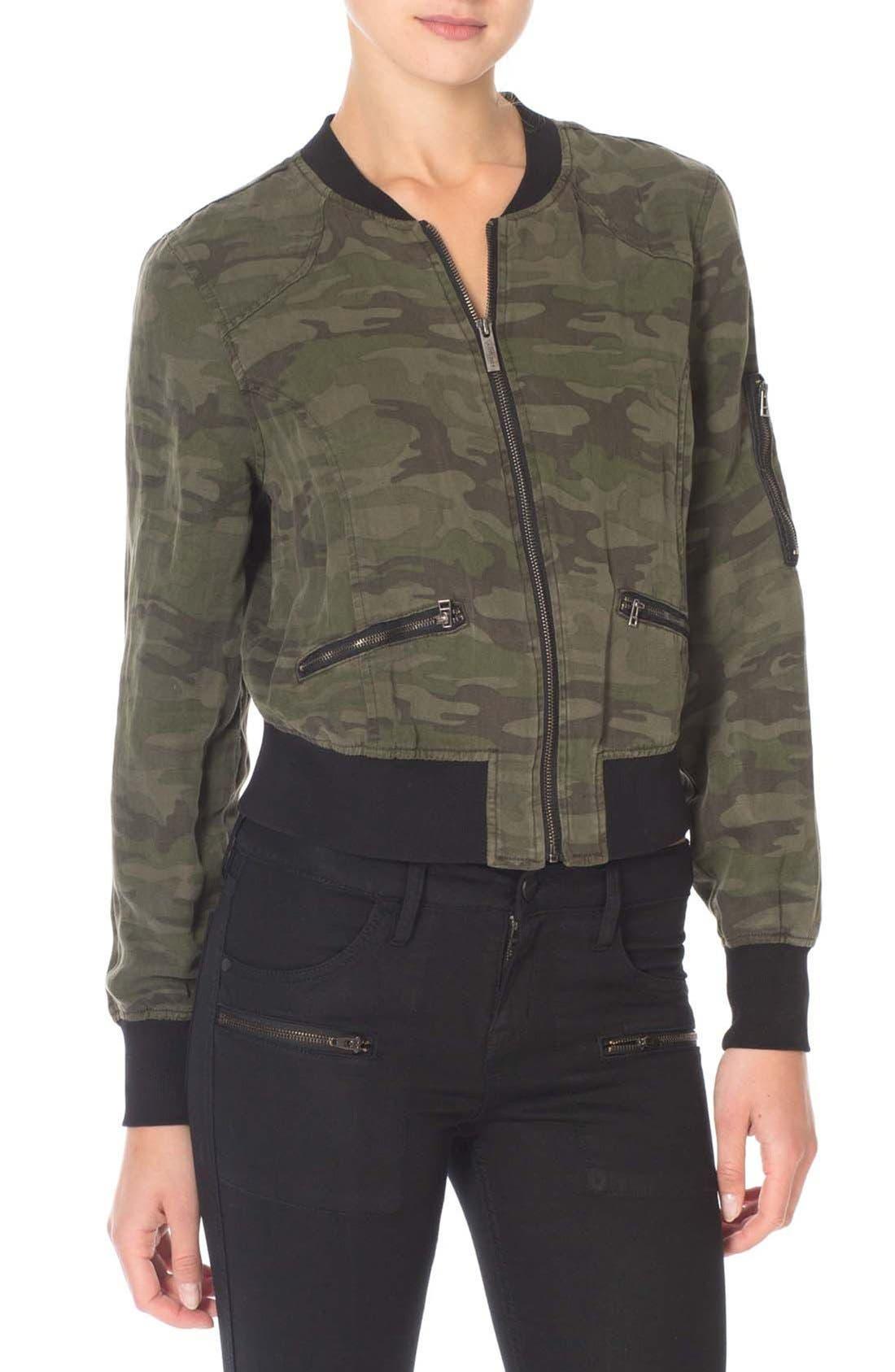 Camo Print Bomber Jacket,                         Main,                         color, 098