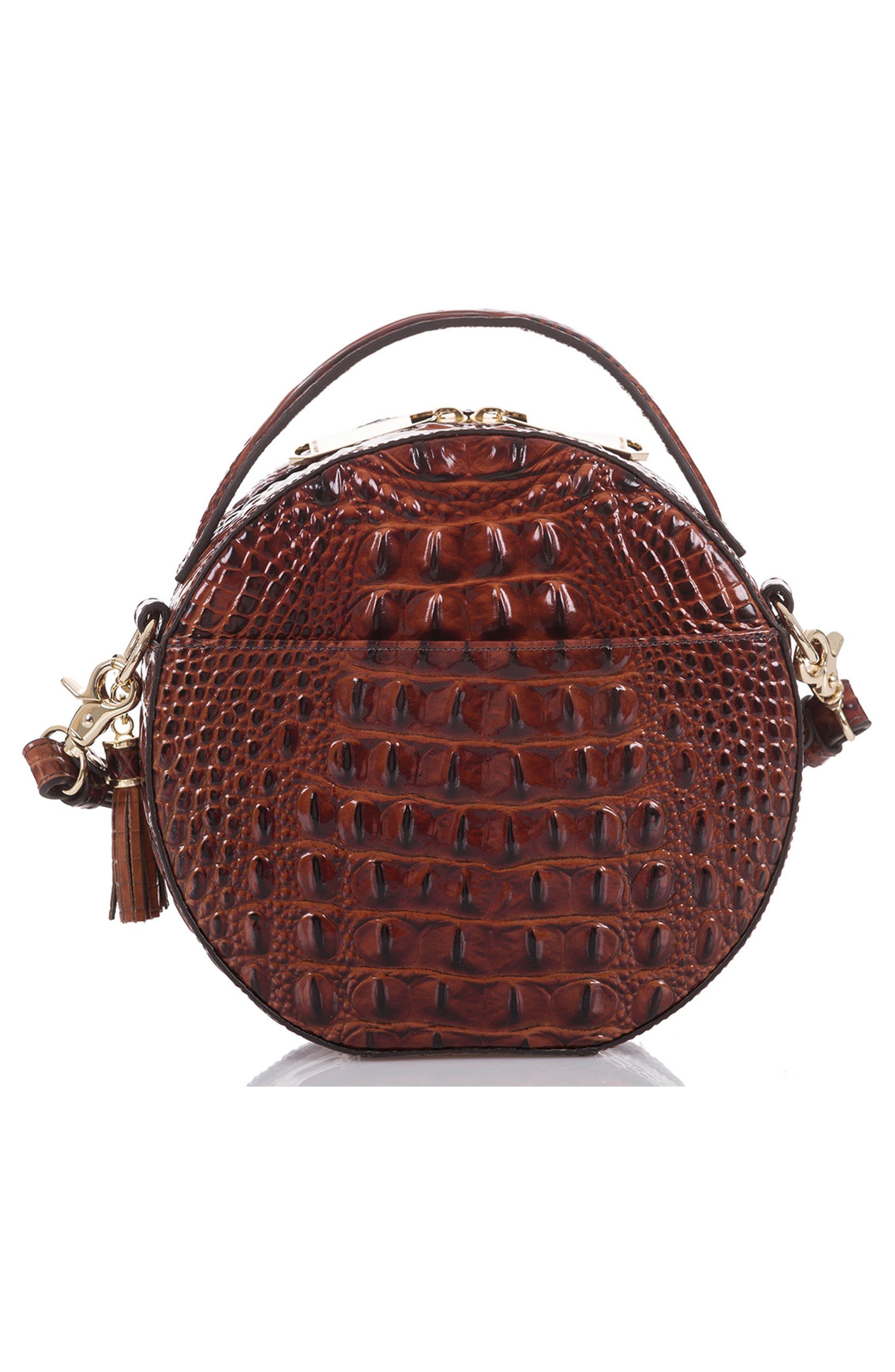 Lane Croc Embossed Leather Crossbody Bag,                             Alternate thumbnail 5, color,