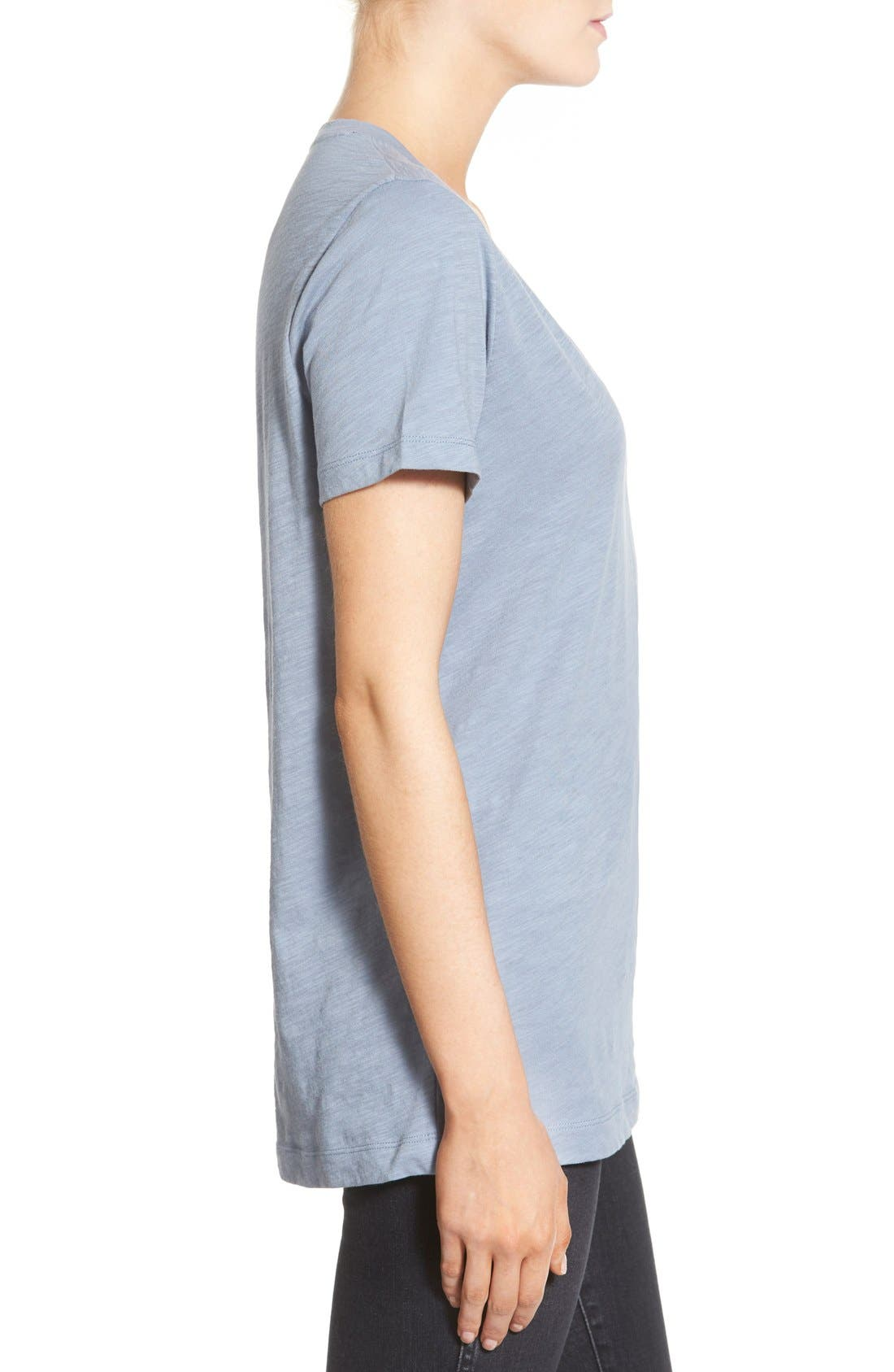Whisper Cotton V-Neck Pocket Tee,                             Alternate thumbnail 109, color,
