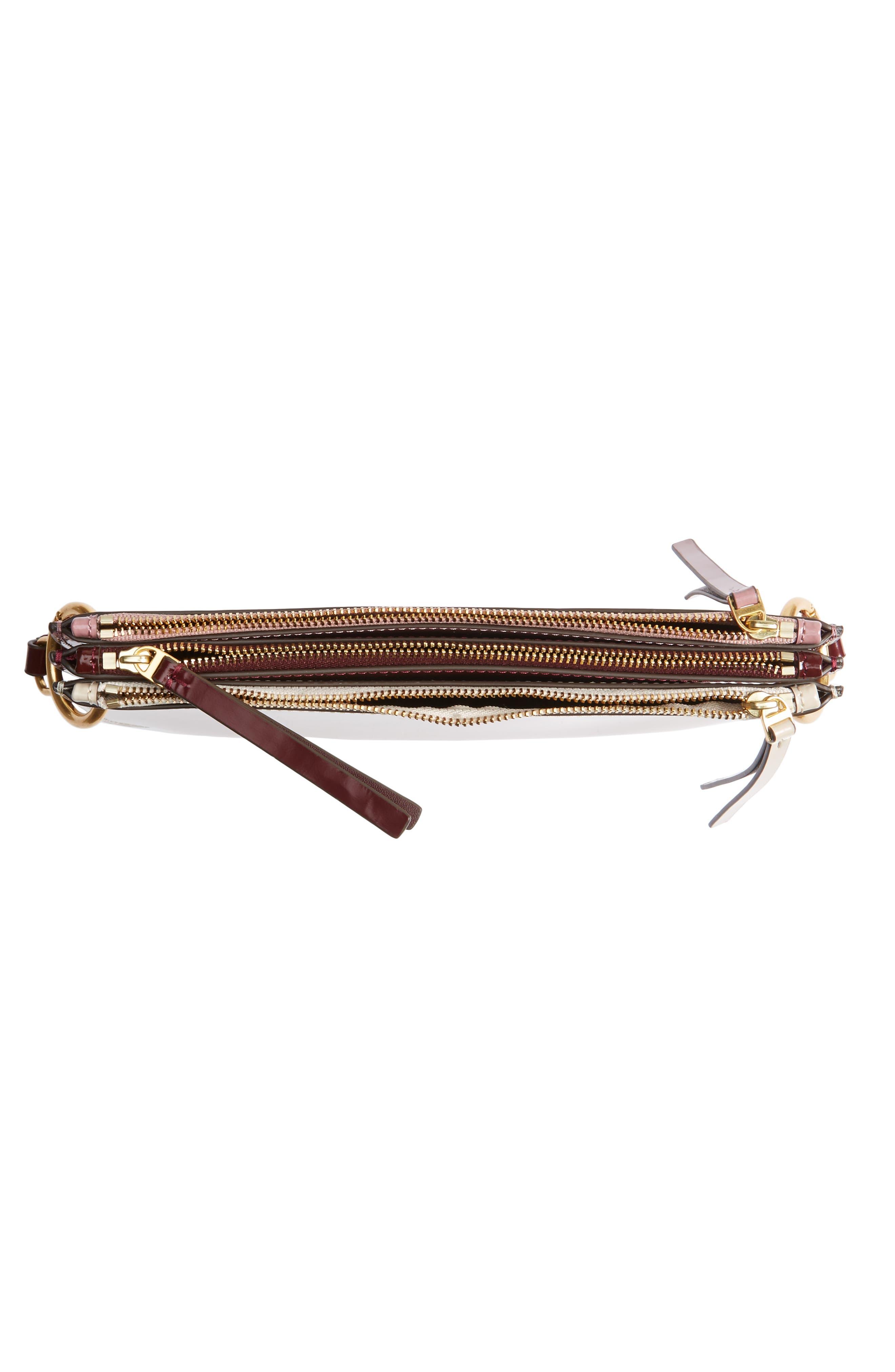 Leather Accordion Crossbody Bag,                             Alternate thumbnail 4, color,                             250