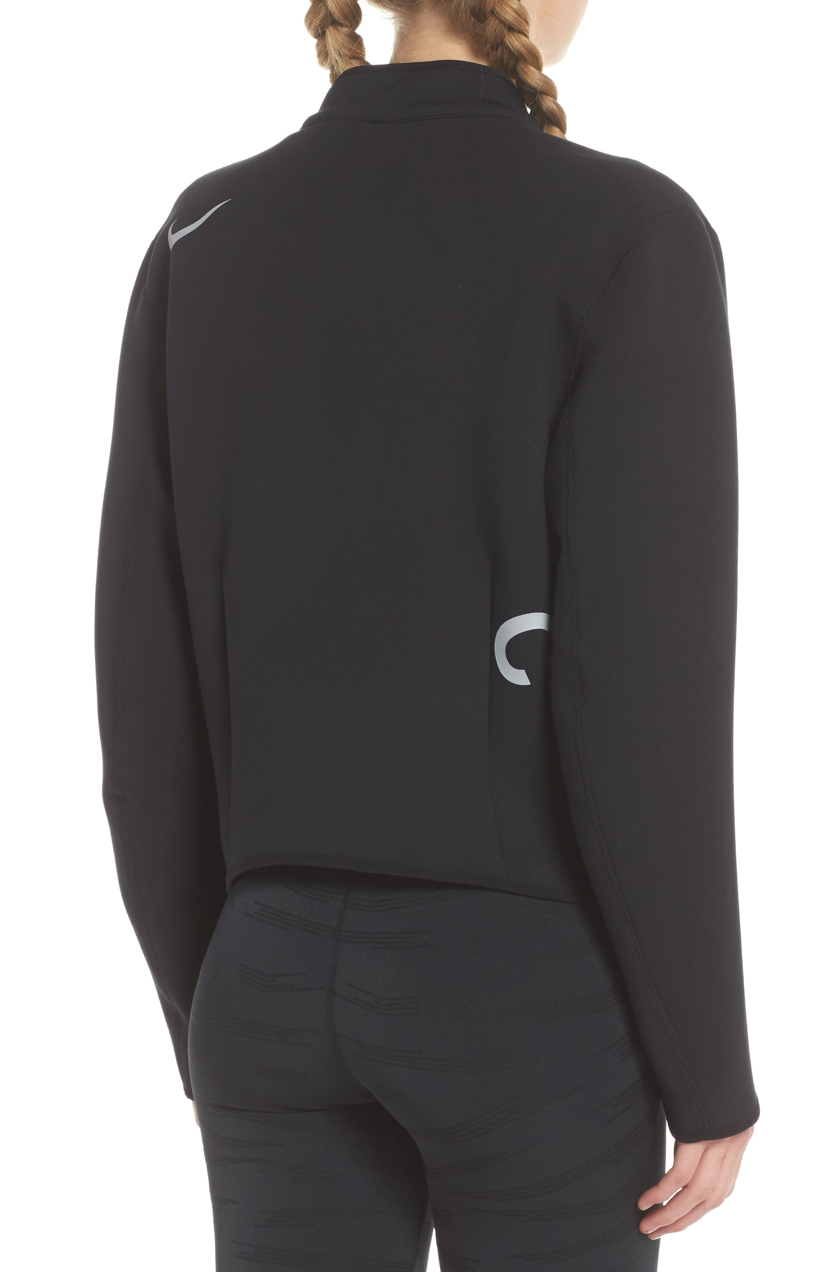 NikeLab ACG Fleece Women's Crewneck Top,                             Alternate thumbnail 2, color,                             010