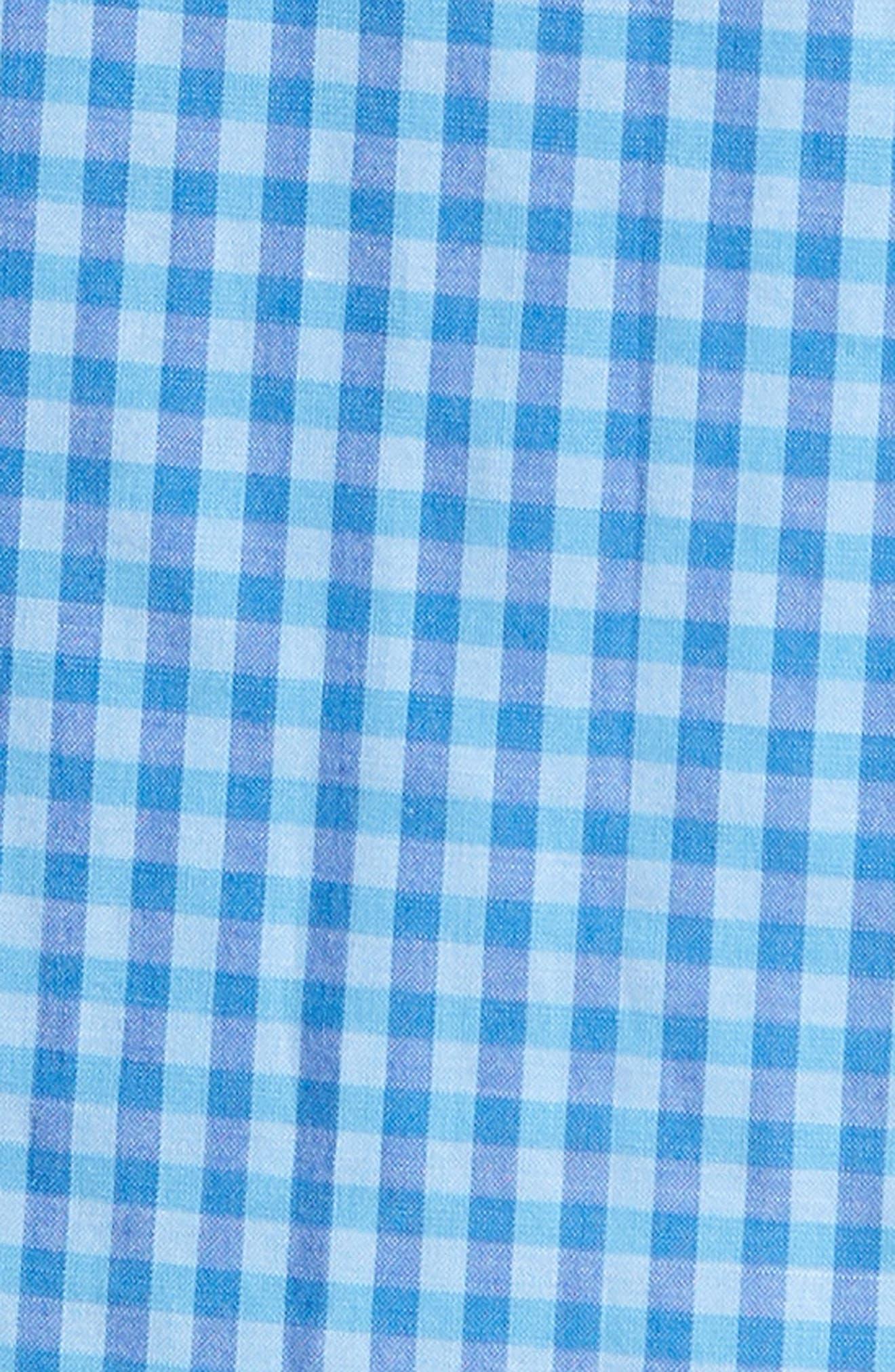 Camana Bay Regular Fit Check Stretch Sport Shirt,                             Alternate thumbnail 5, color,                             392