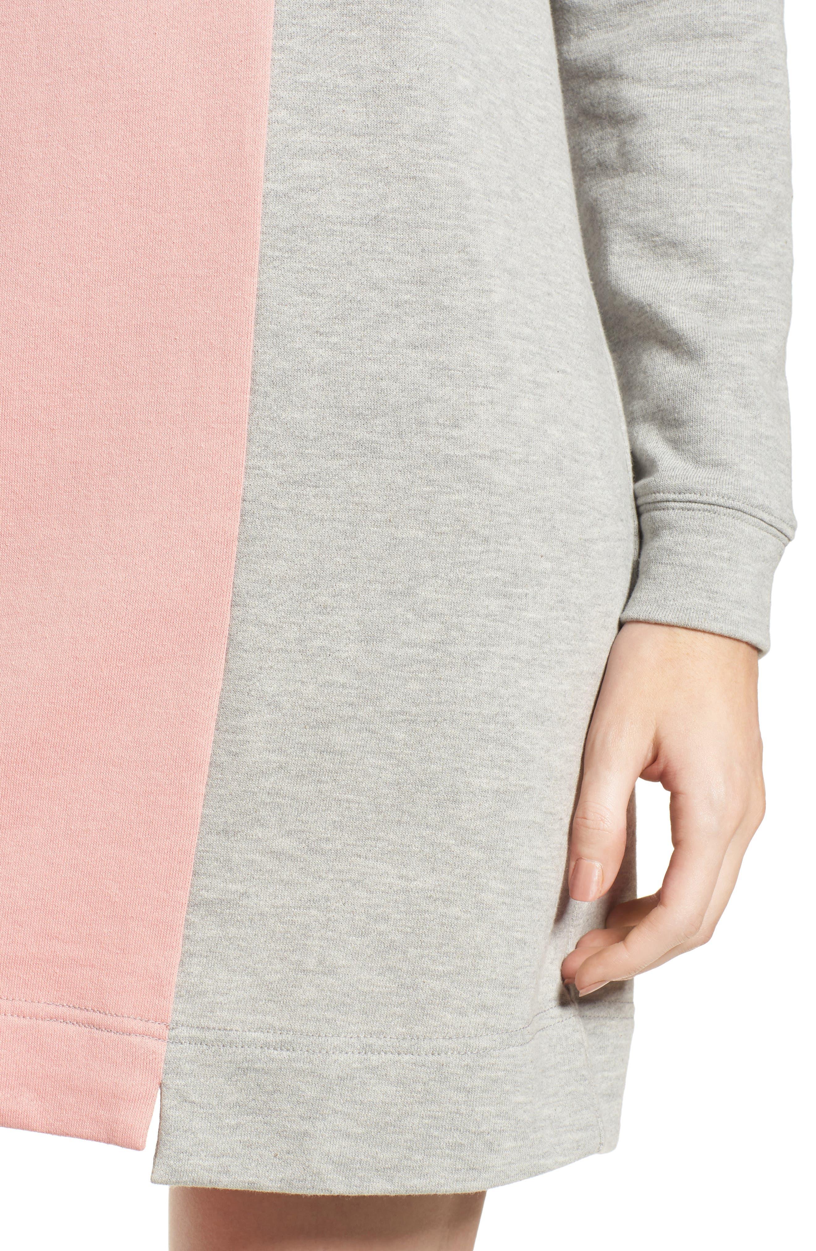 Colorblock Sweatshirt Dress,                             Alternate thumbnail 4, color,                             039