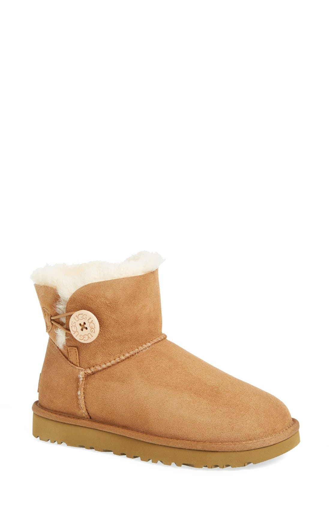 Mini Bailey Button Ii Ankle Boots in Chestnut Suede