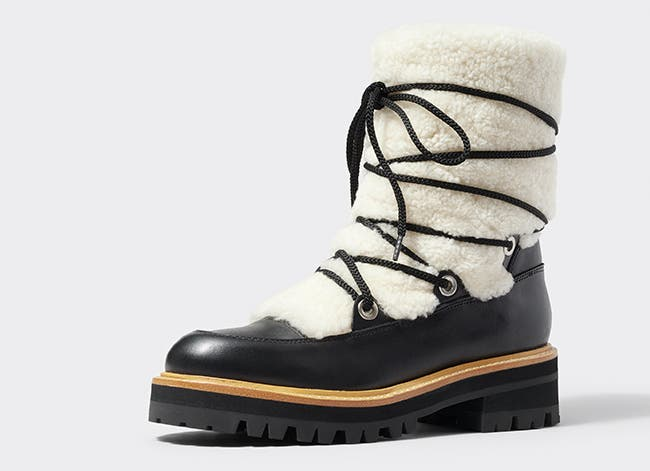 Cozy boots for cold weather.