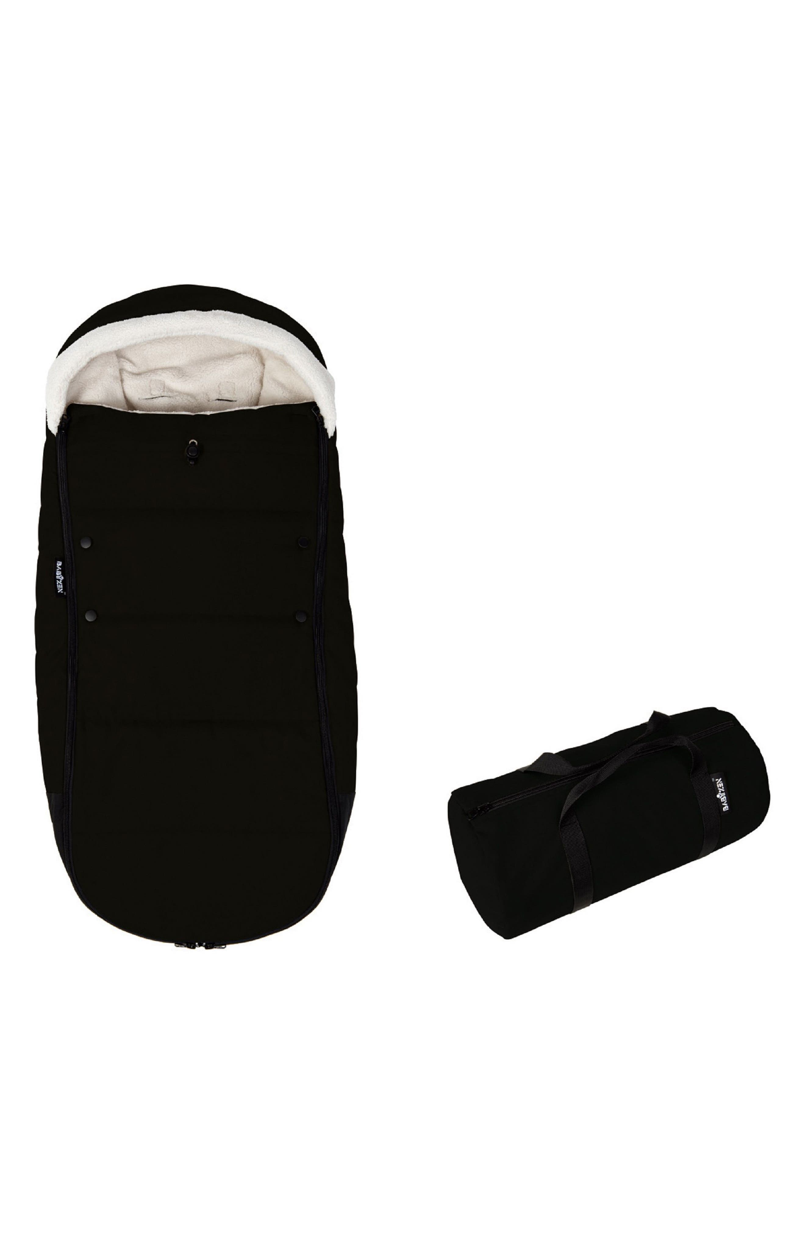 Hooded Footmuff,                             Main thumbnail 1, color,                             BLACK