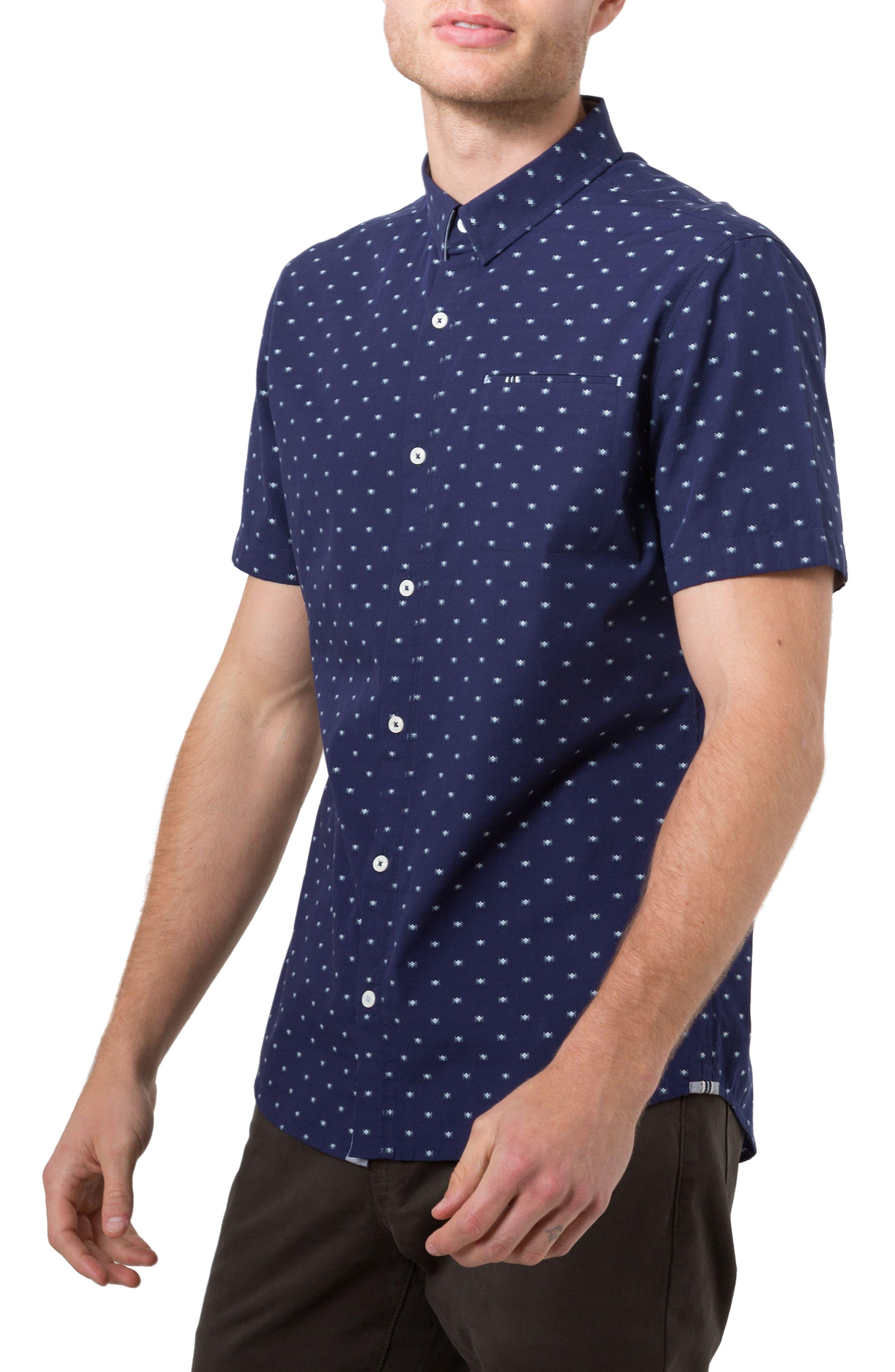 Star Quality Dobby Woven Shirt,                             Alternate thumbnail 3, color,                             400