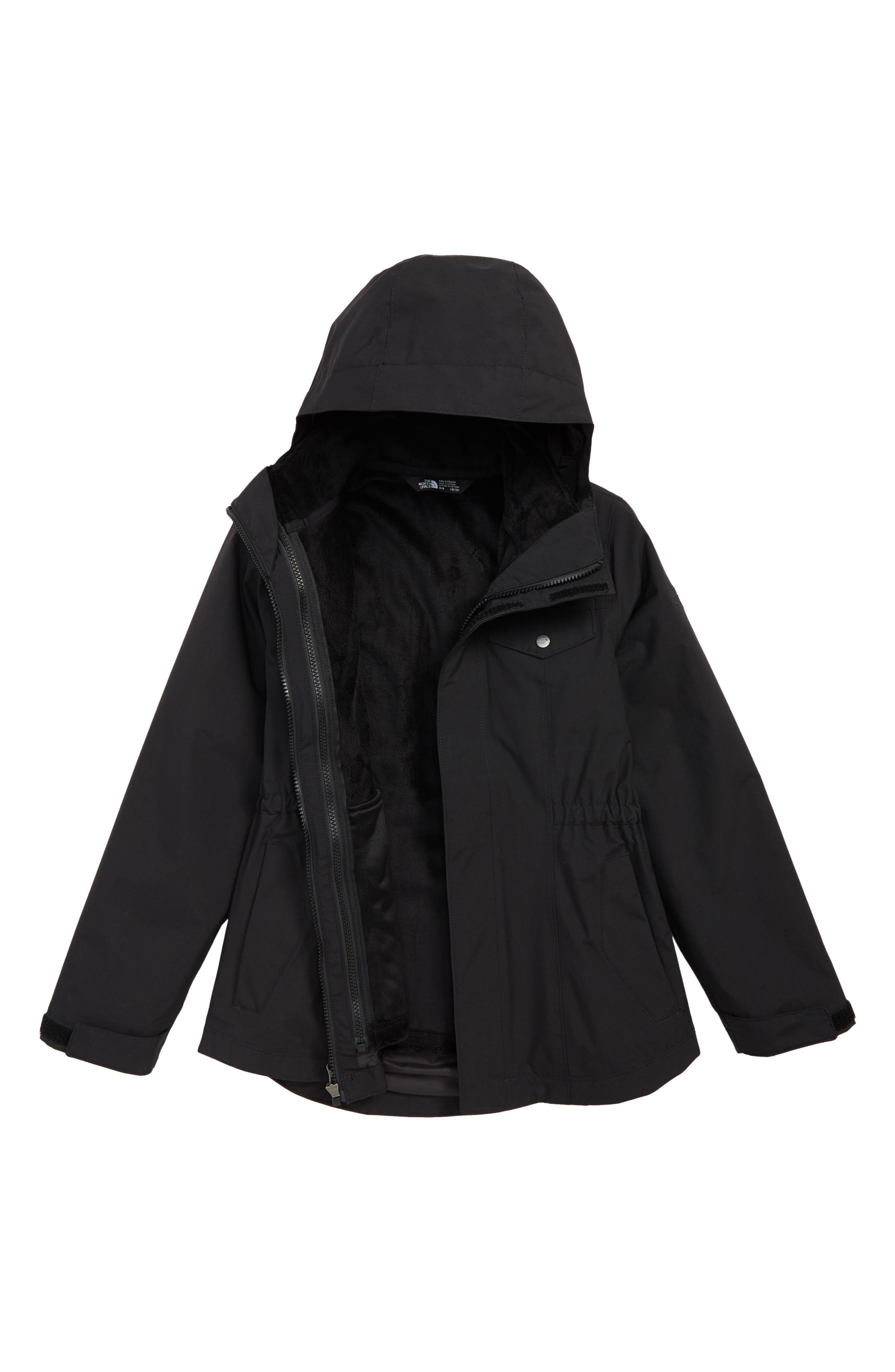 Osolita 2.0 TriClimate<sup>®</sup> Waterproof 3-in-1 Jacket,                             Main thumbnail 1, color,                             TNF BLACK