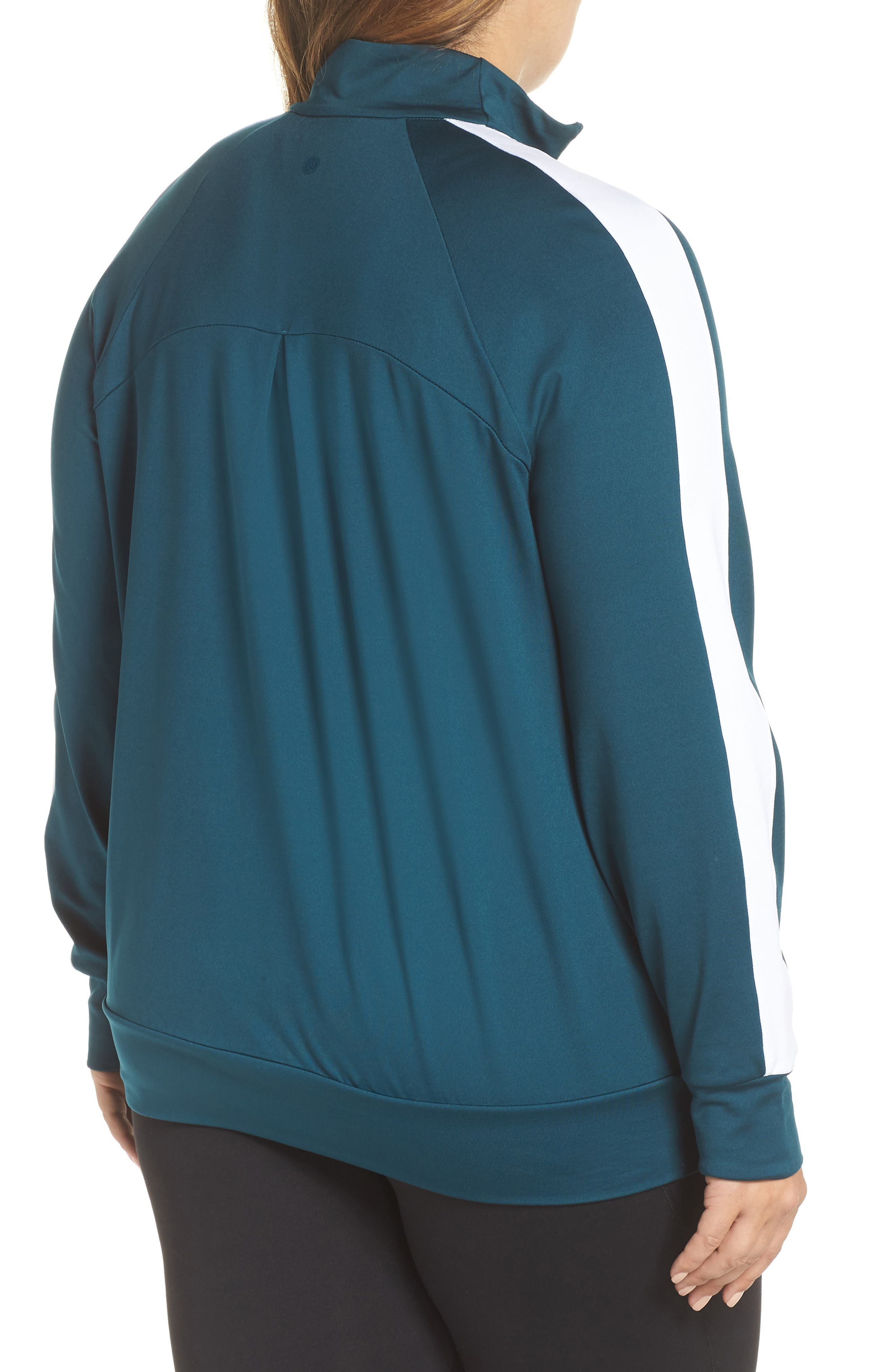 Taylor Track Jacket,                             Alternate thumbnail 2, color,                             TEAL ABYSS