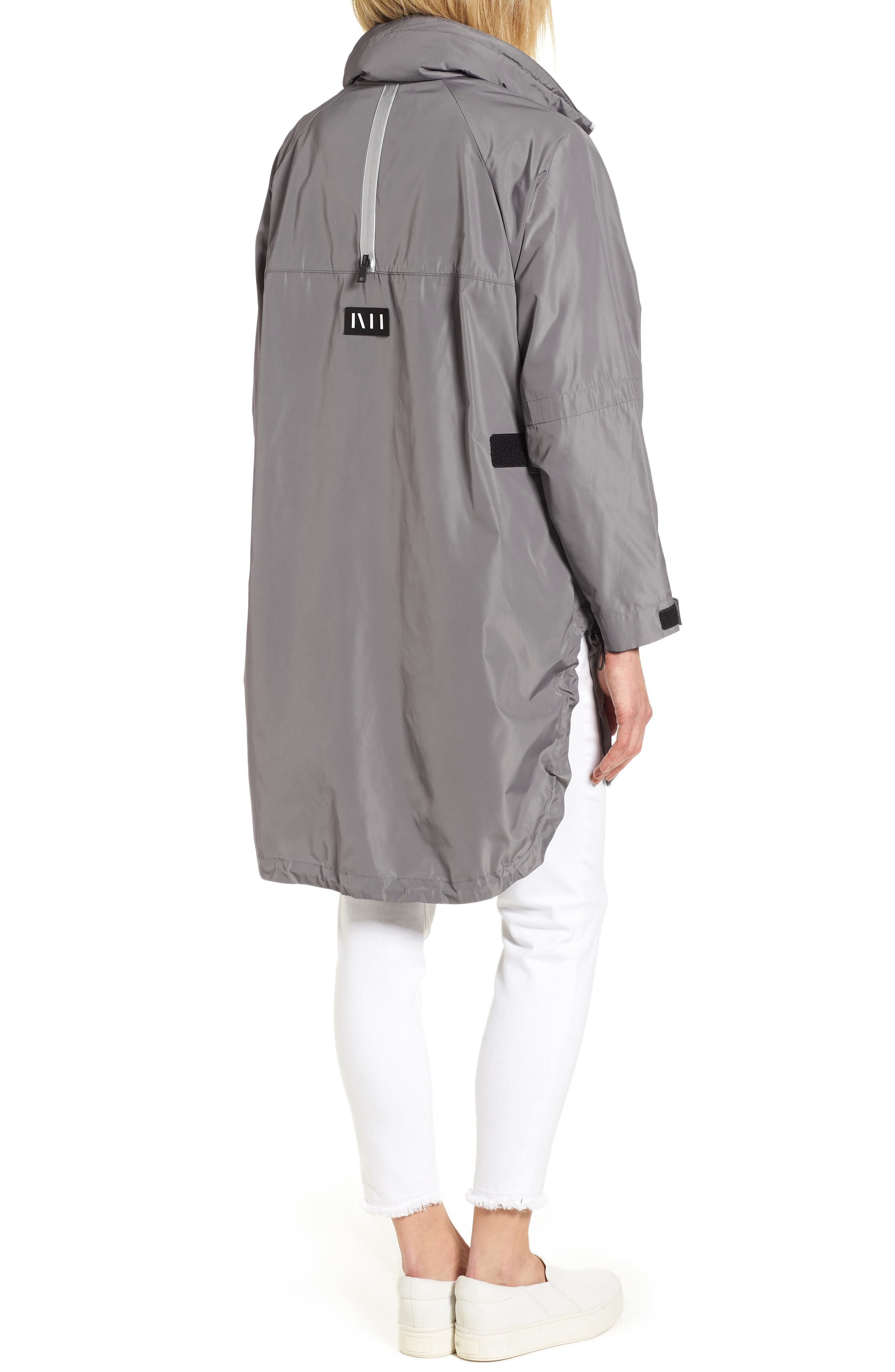 Poly-Luxe Packable Oversize Jacket,                             Alternate thumbnail 3, color,