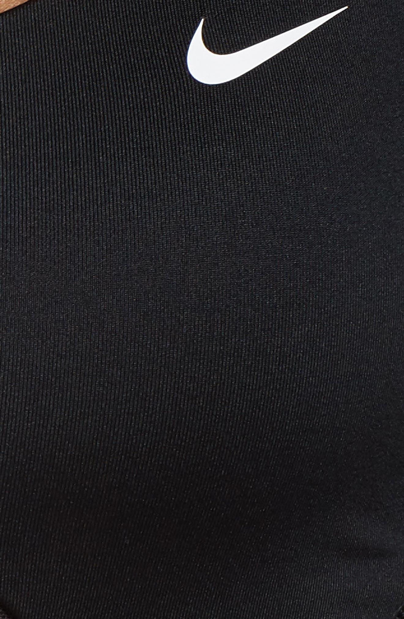 Infinity Dri-FIT Sports Bra,                             Alternate thumbnail 6, color,                             BLACK/ BLACK/ WHITE