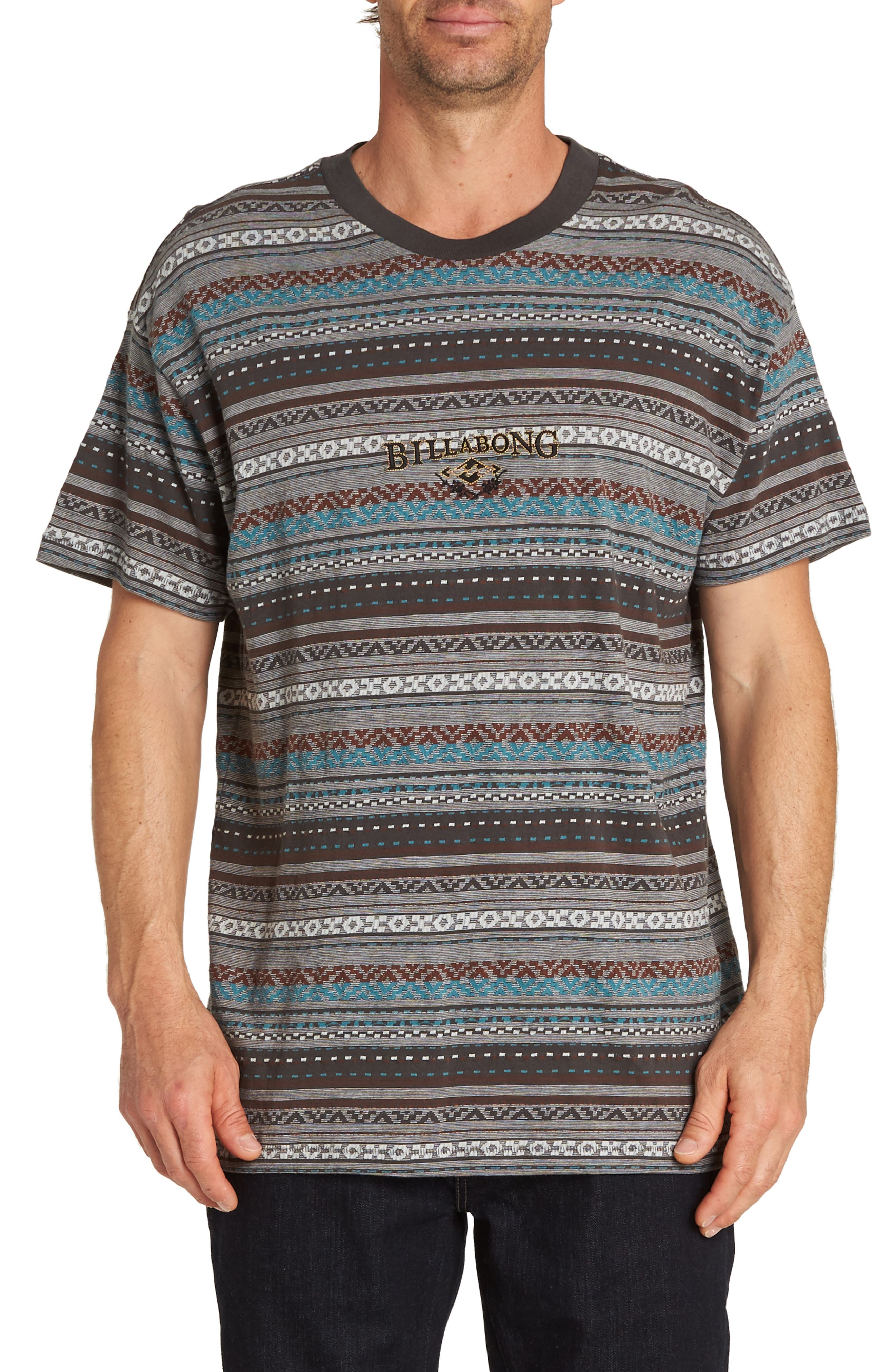 Jacquard Reissue Logo T-Shirt,                             Main thumbnail 1, color,                             RAVEN
