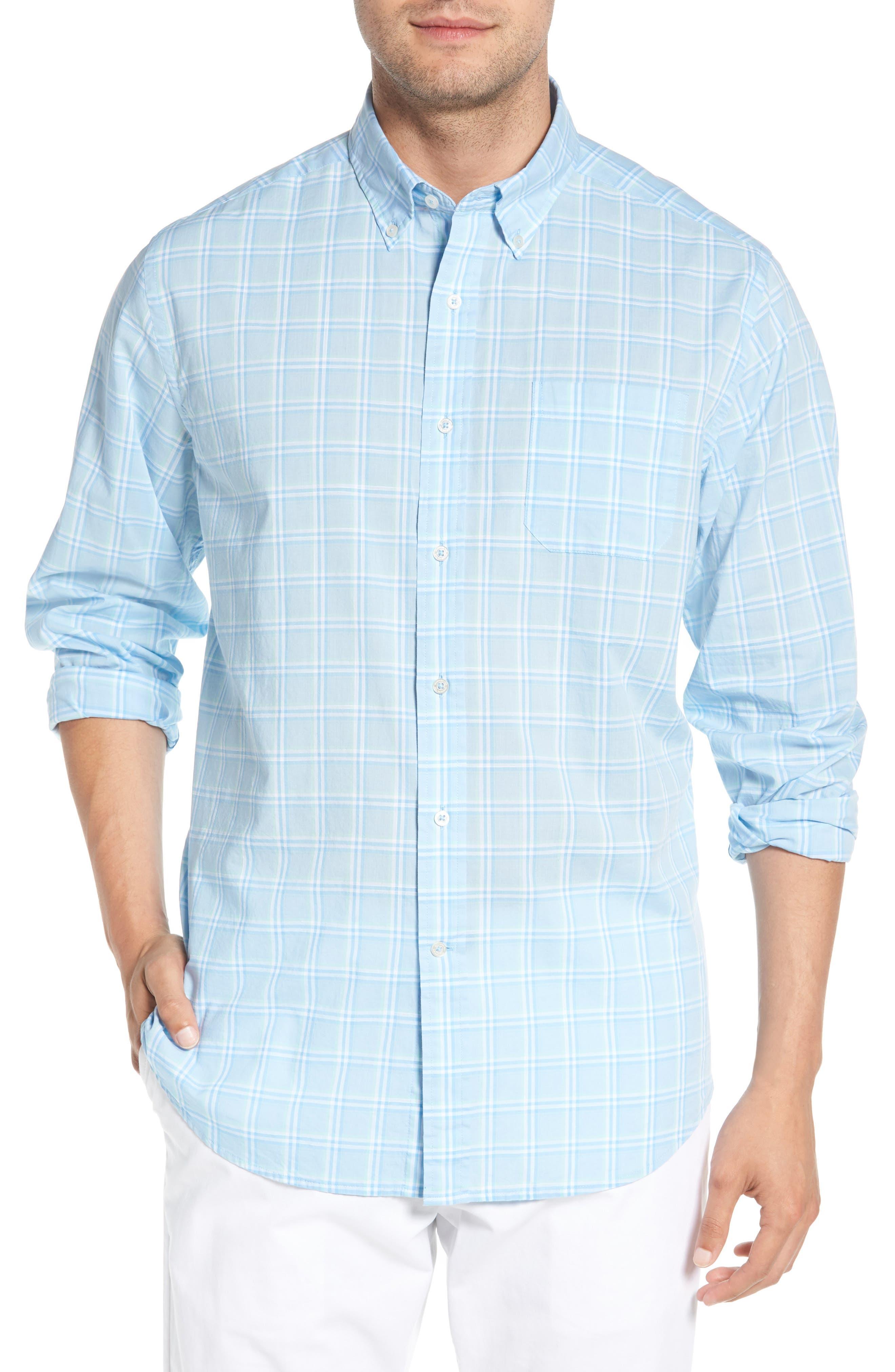 Roadstead Regular Fit Plaid Sport Shirt,                         Main,                         color, 450