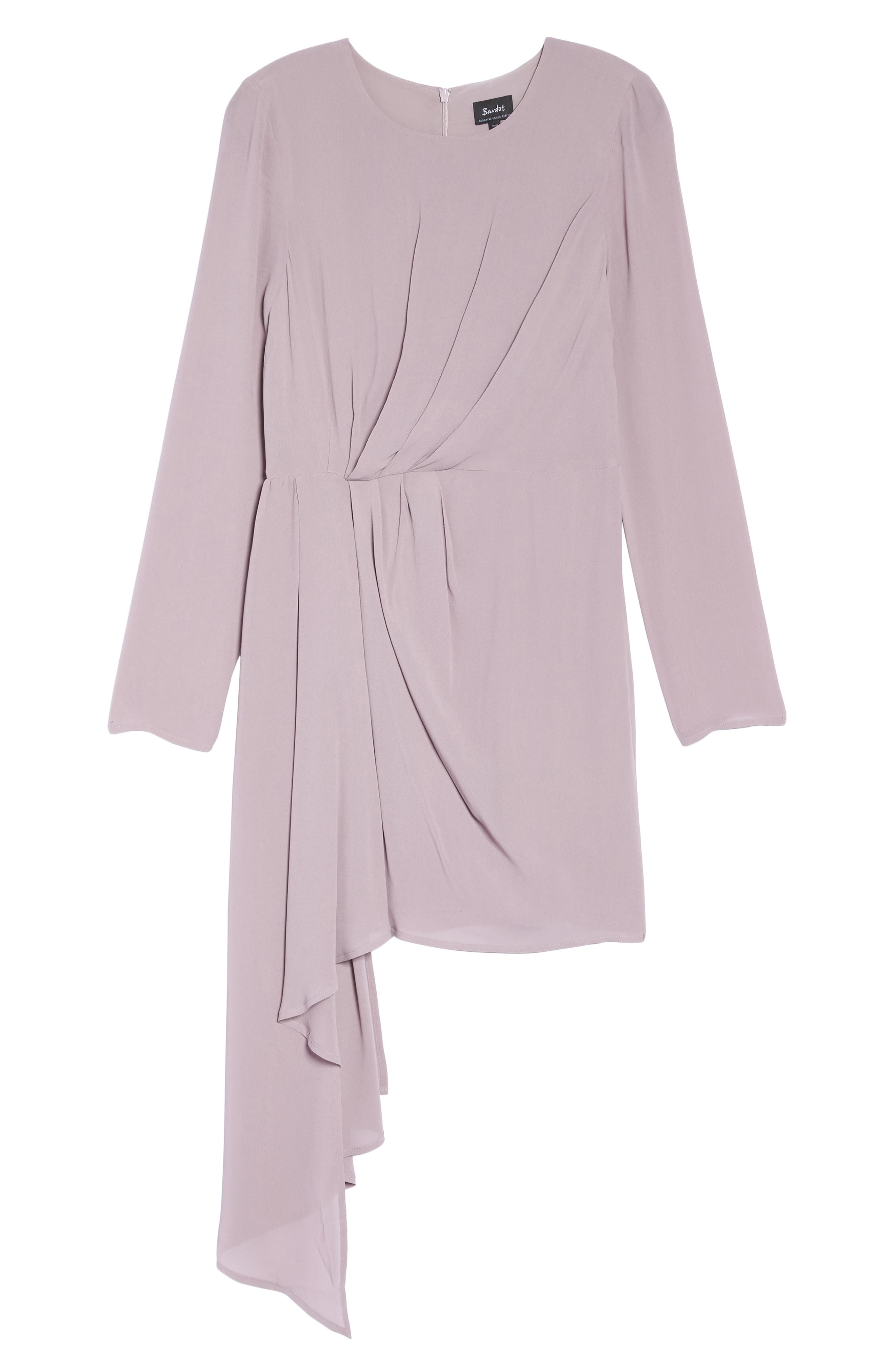 Stilla Asymmetric Drape Dress,                             Alternate thumbnail 6, color,