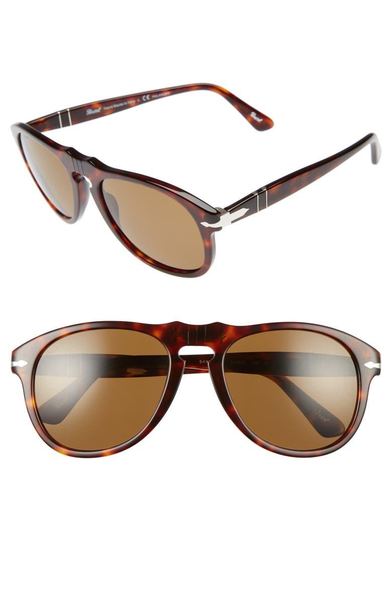 7bb3a06335 Persol 54mm Polarized Keyhole Retro Sunglasses