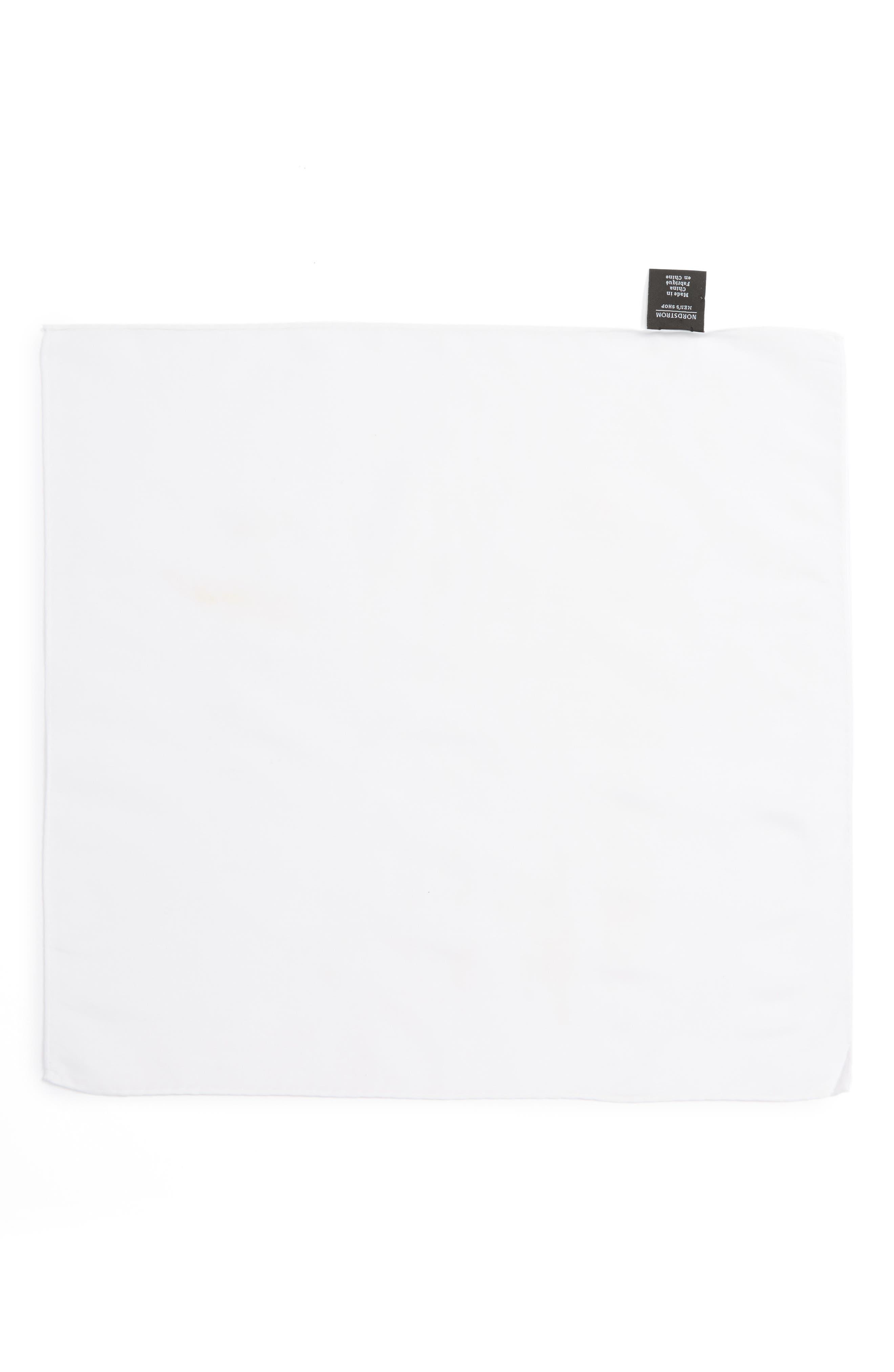 Solid Cotton & Silk Pocket Square,                             Alternate thumbnail 11, color,