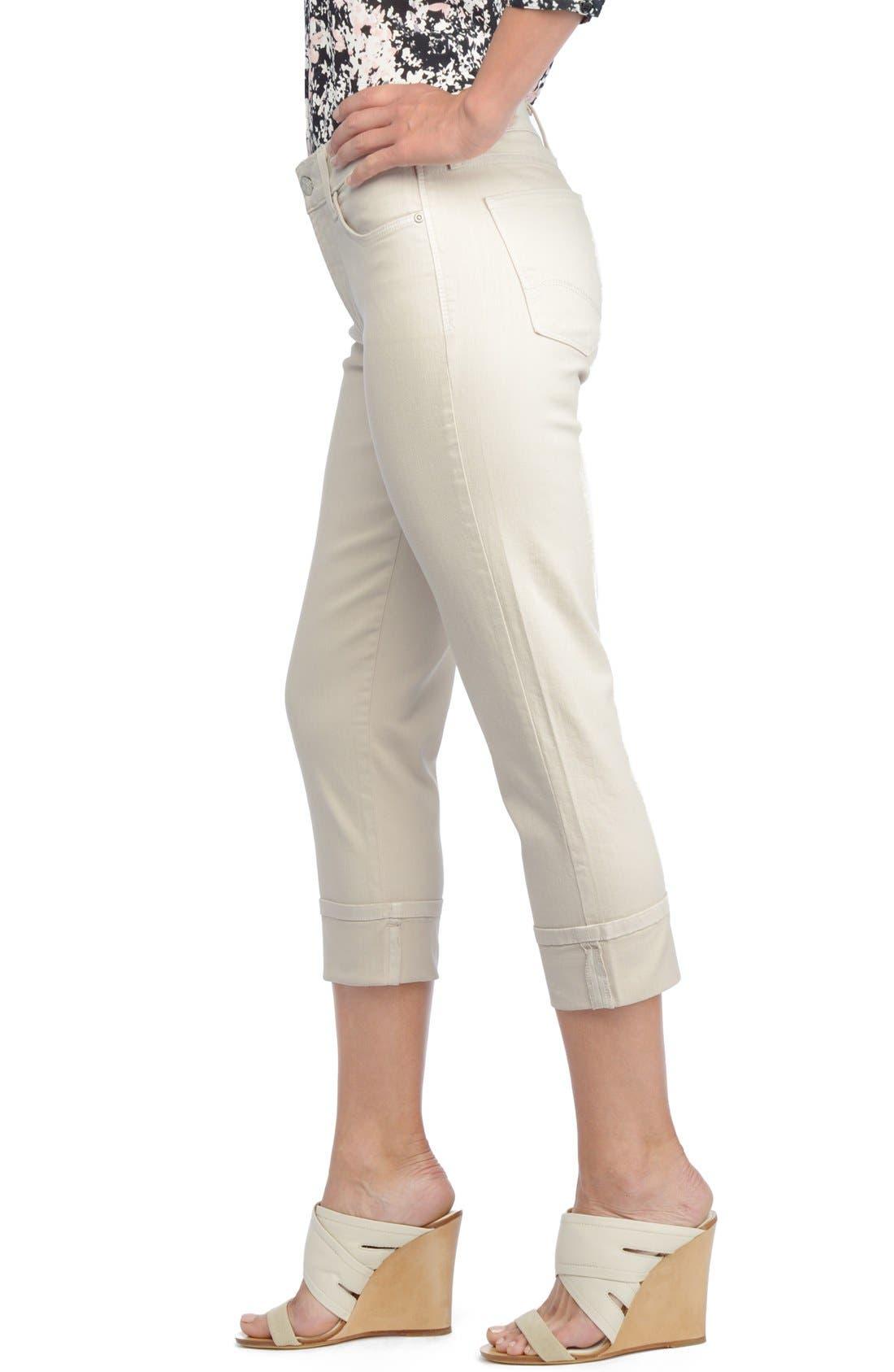 'Dayla' Colored Wide Cuff Capri Jeans,                             Alternate thumbnail 18, color,