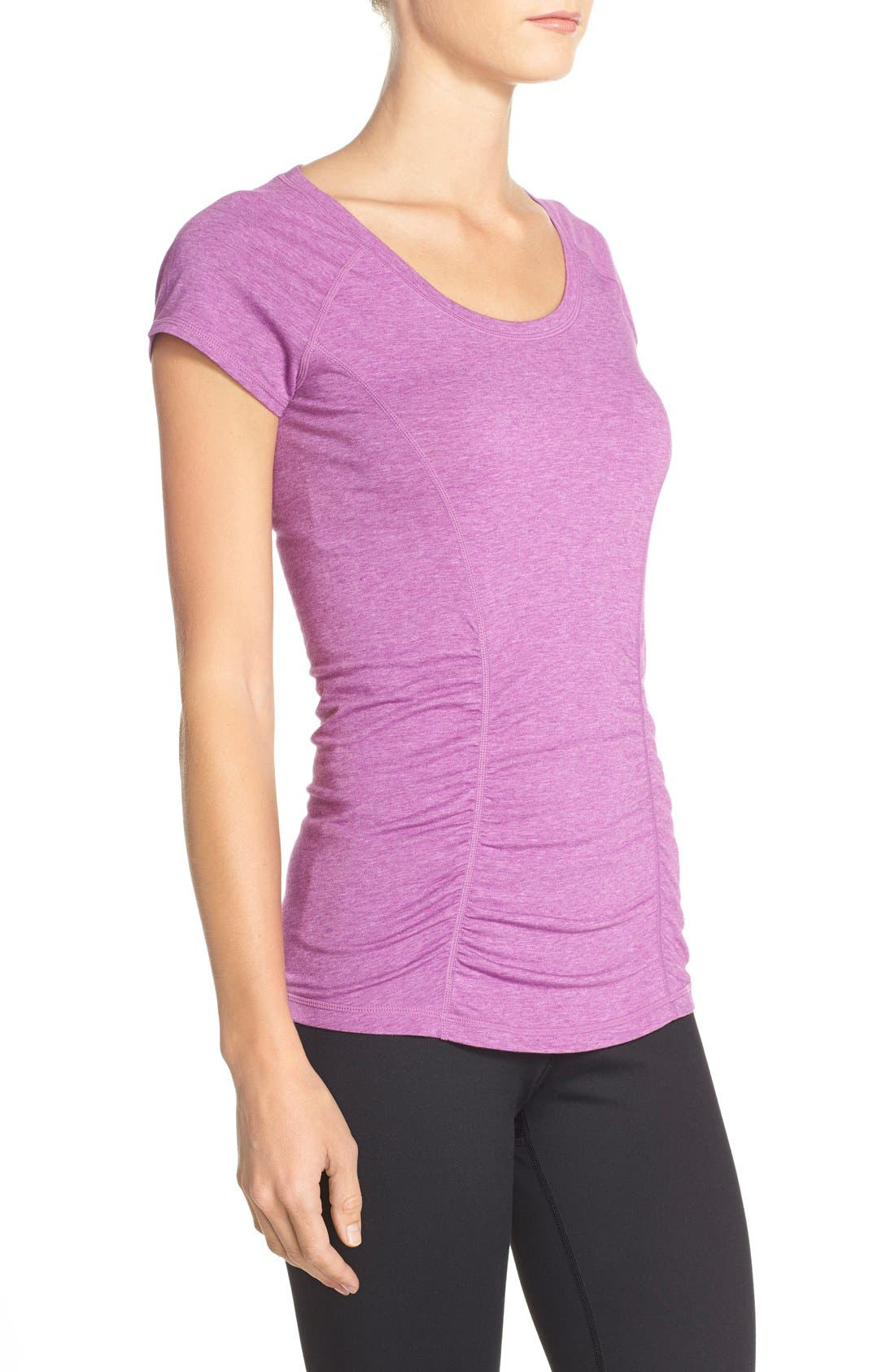 'Z 6' Ruched Tee,                             Alternate thumbnail 56, color,
