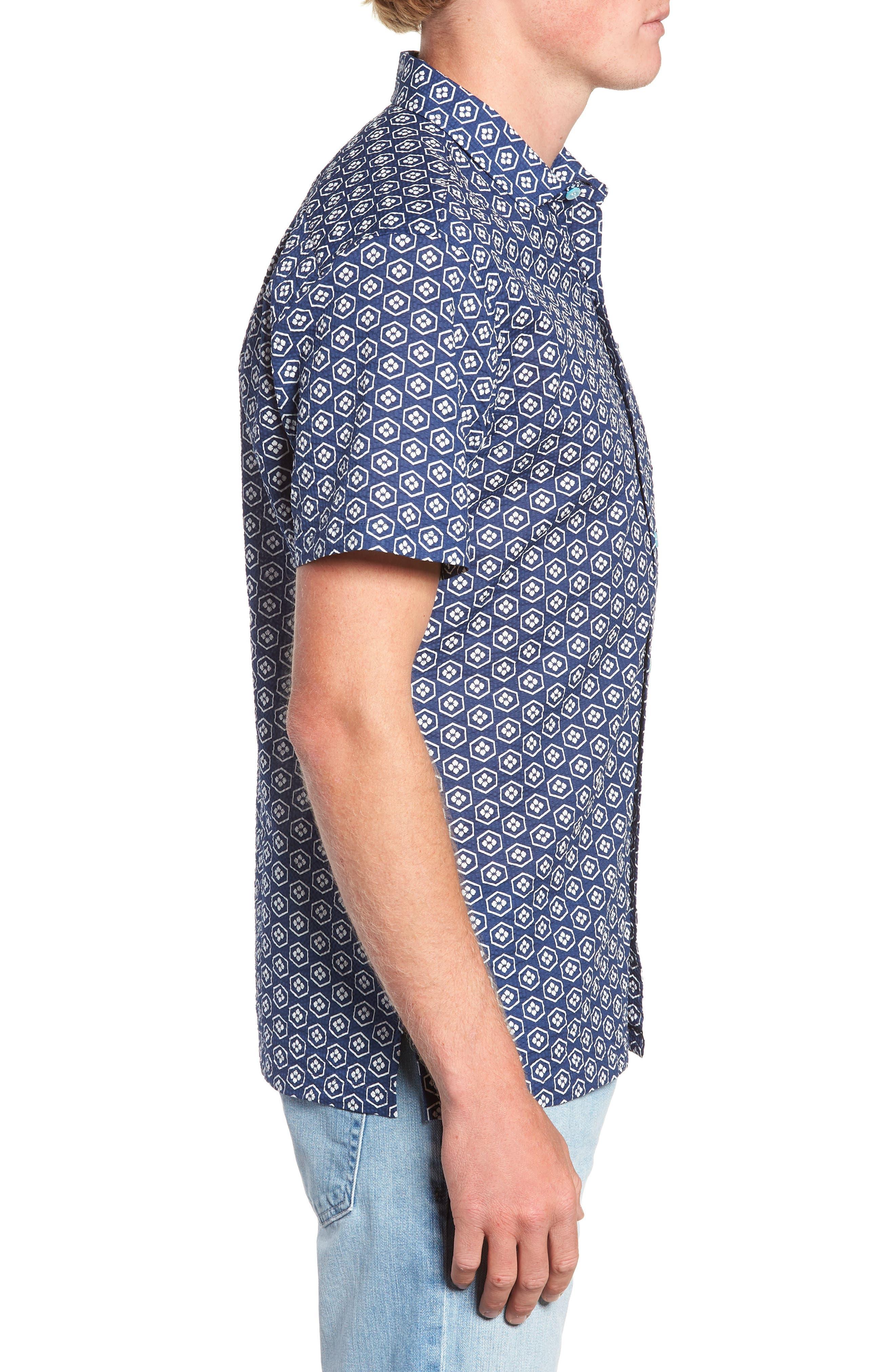 Regular Fit Print Sport Shirt,                             Alternate thumbnail 4, color,                             415
