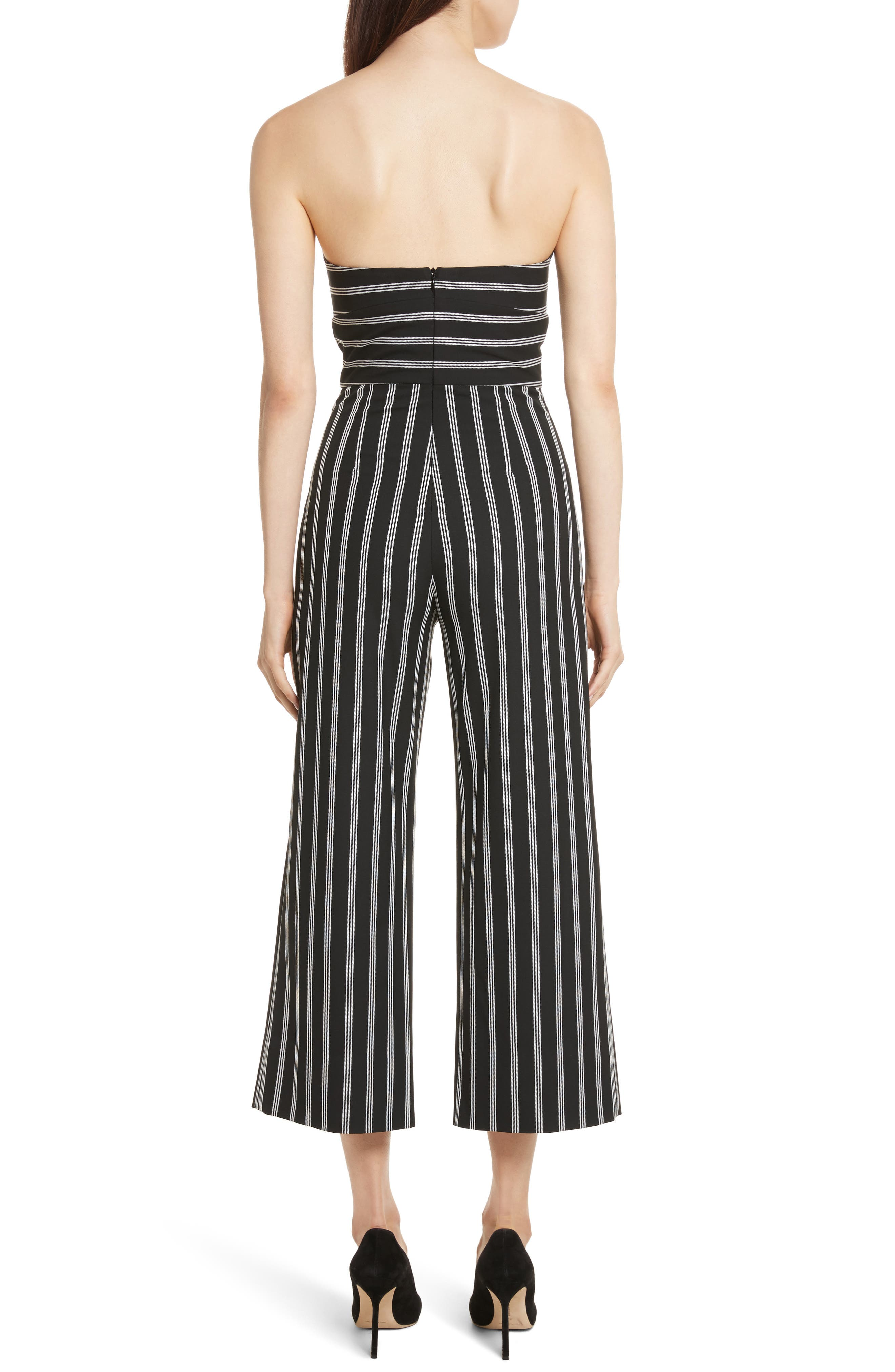 Cypress Stripe Strapless Jumpsuit,                             Alternate thumbnail 2, color,                             007