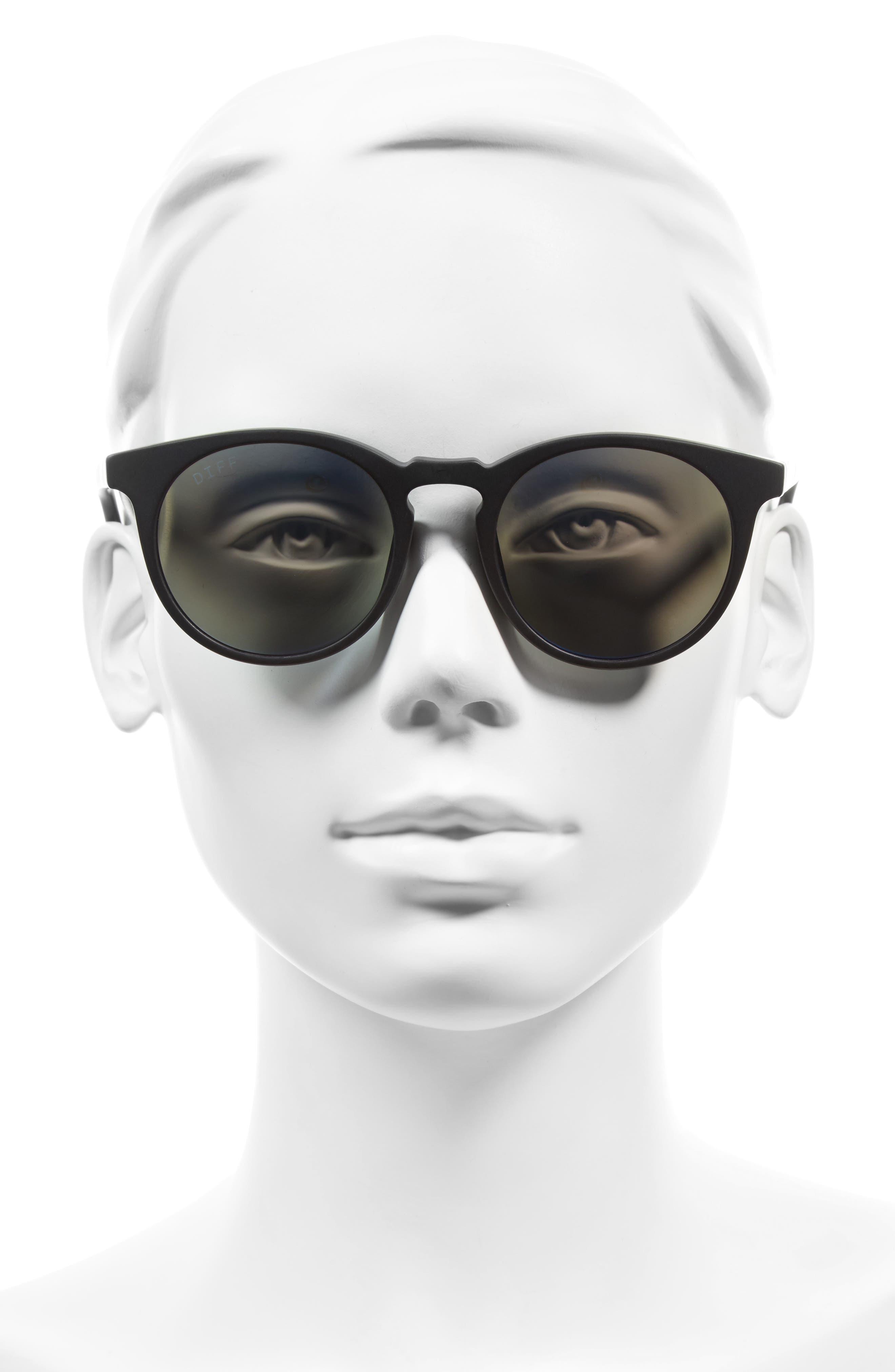 Charlie 48mm Mirrored Polarized Round Retro Sunglasses,                             Alternate thumbnail 2, color,                             001