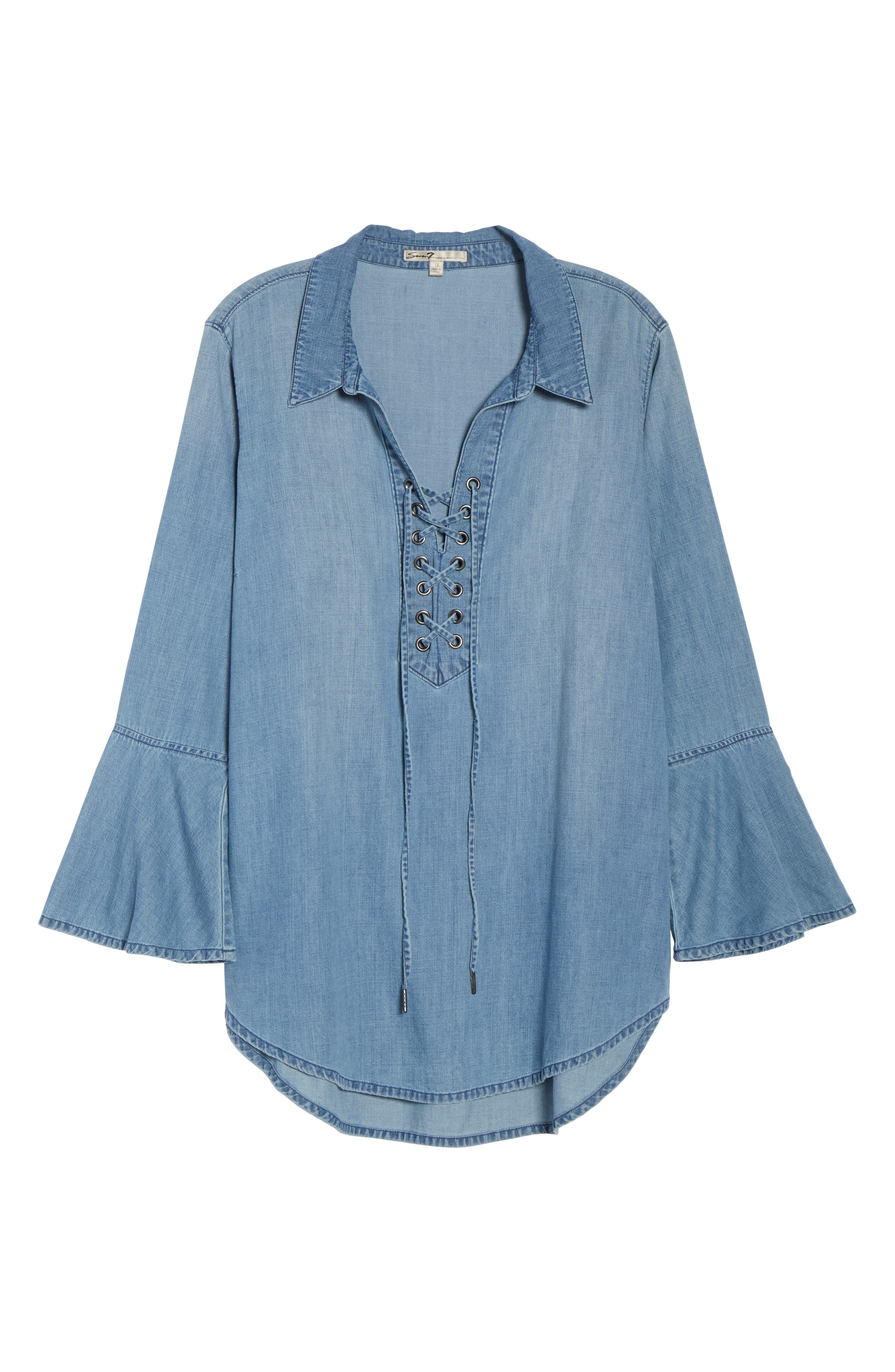 Lace-Up Tunic,                             Alternate thumbnail 13, color,