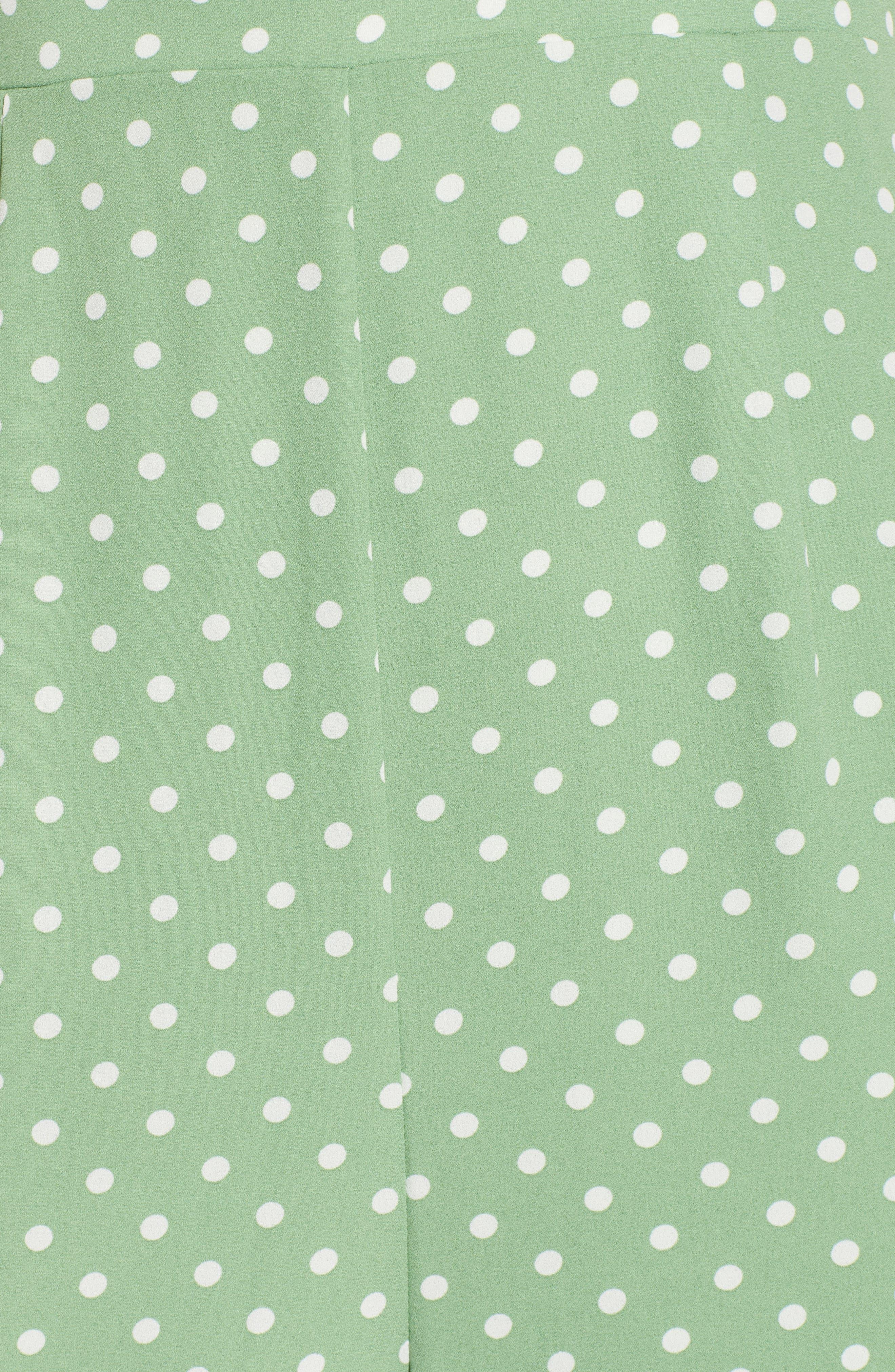 ROW A,                             Polka Dot Jumpsuit,                             Alternate thumbnail 6, color,                             340