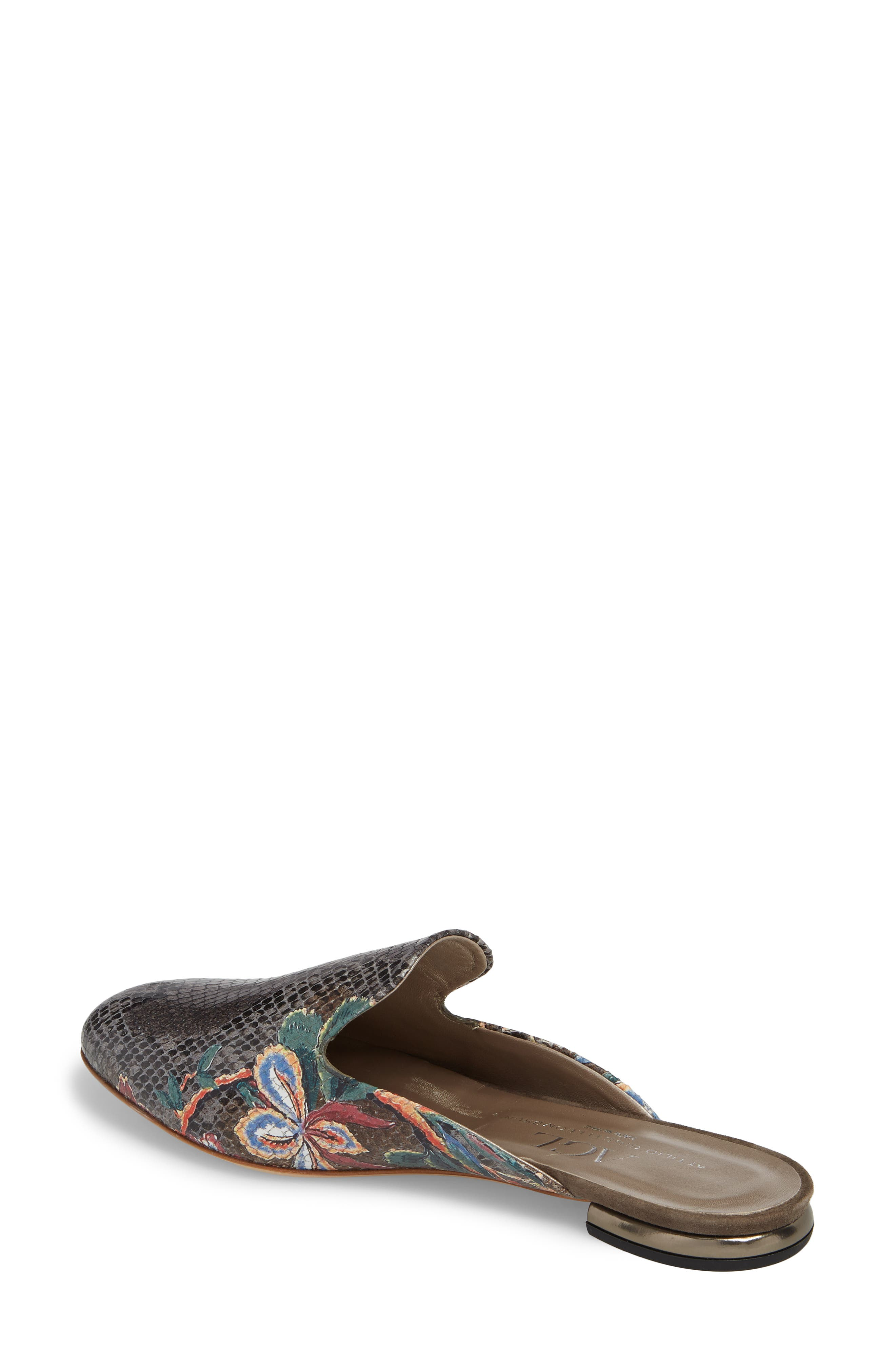 Mule,                             Alternate thumbnail 2, color,                             TAUPE PRINT LEATHER