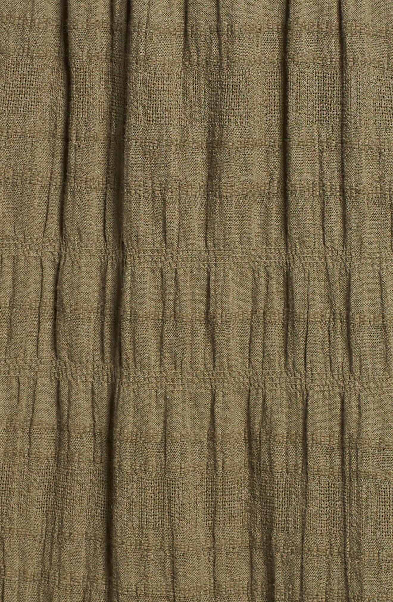 Smocked Stretch Cotton Mini Skirt,                             Alternate thumbnail 4, color,                             311