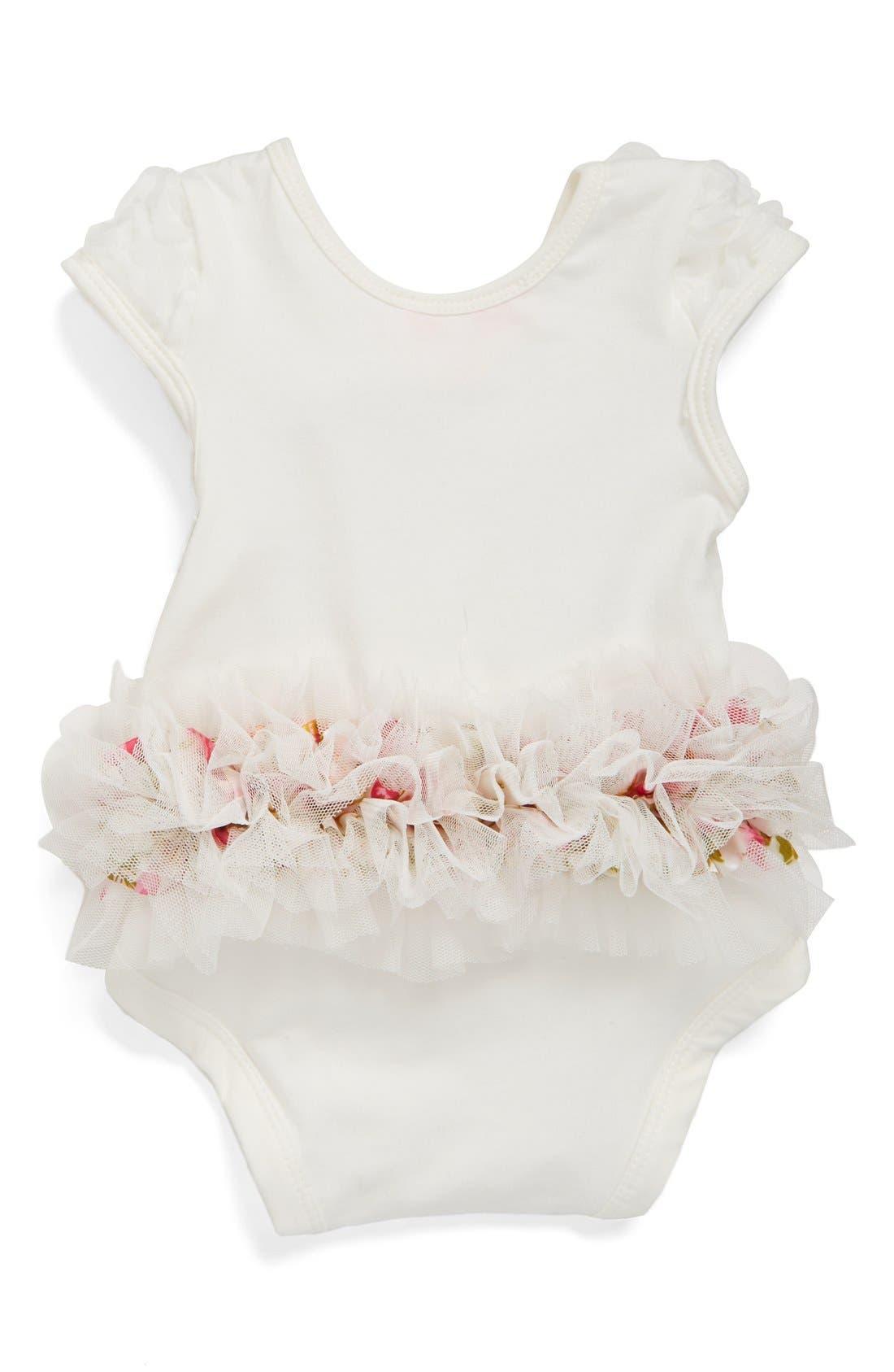 Floral Soutache Bodysuit,                             Alternate thumbnail 2, color,                             WHITE