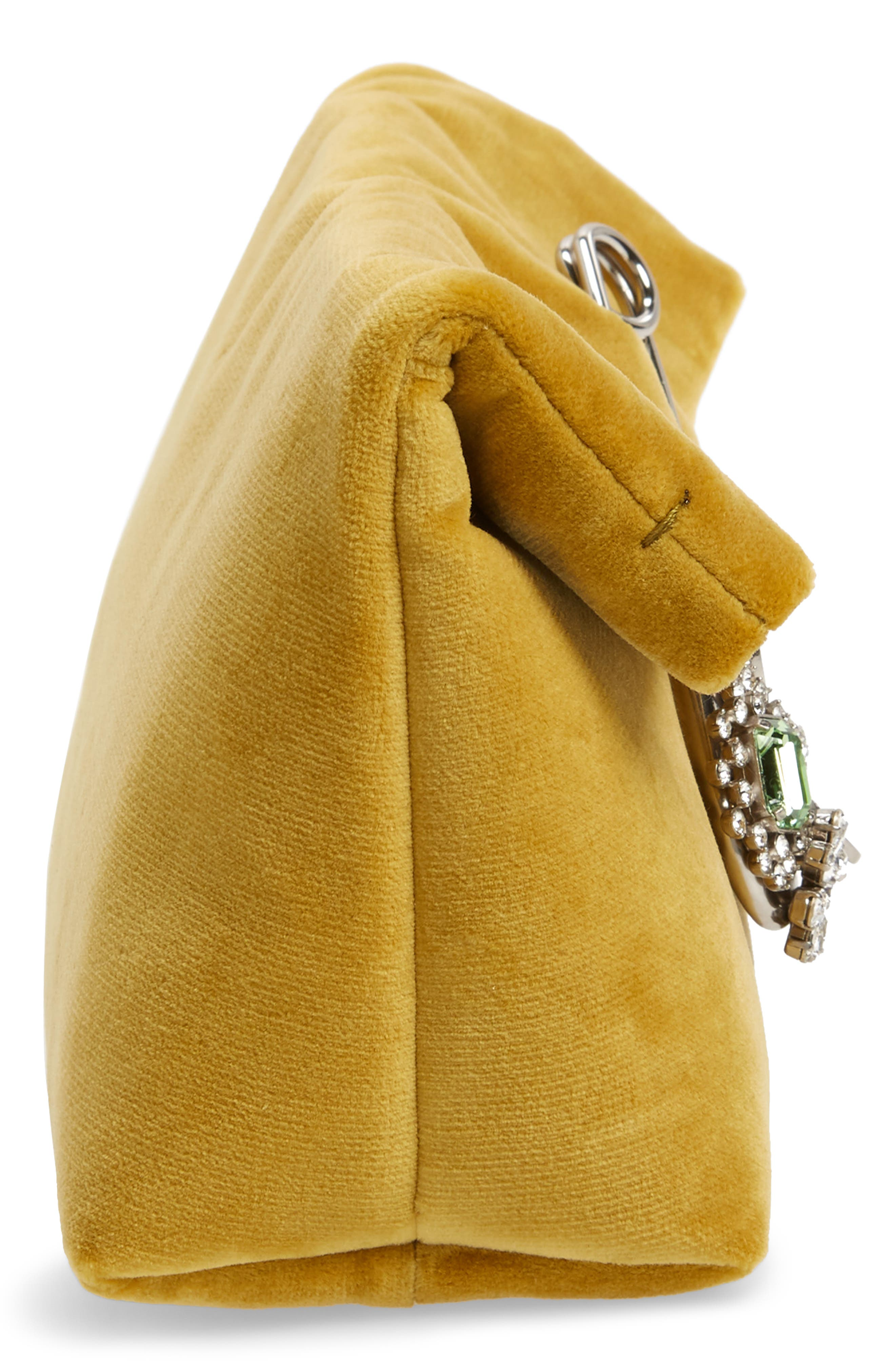Small Safety Pin Clutch,                             Alternate thumbnail 5, color,                             LARCH YELLOW