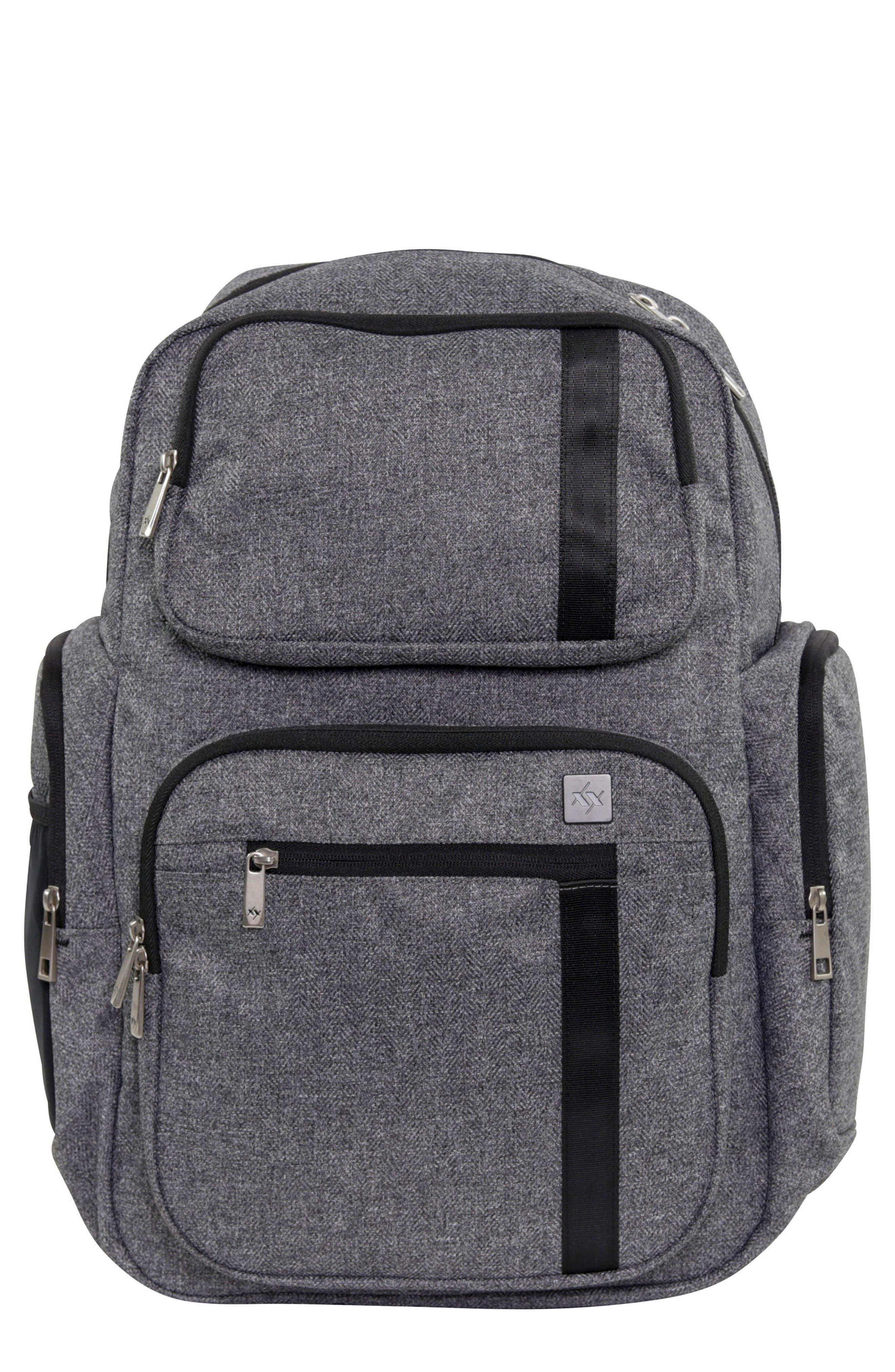 XY Vector Diaper Backpack,                             Main thumbnail 1, color,                             GRAY MATTER