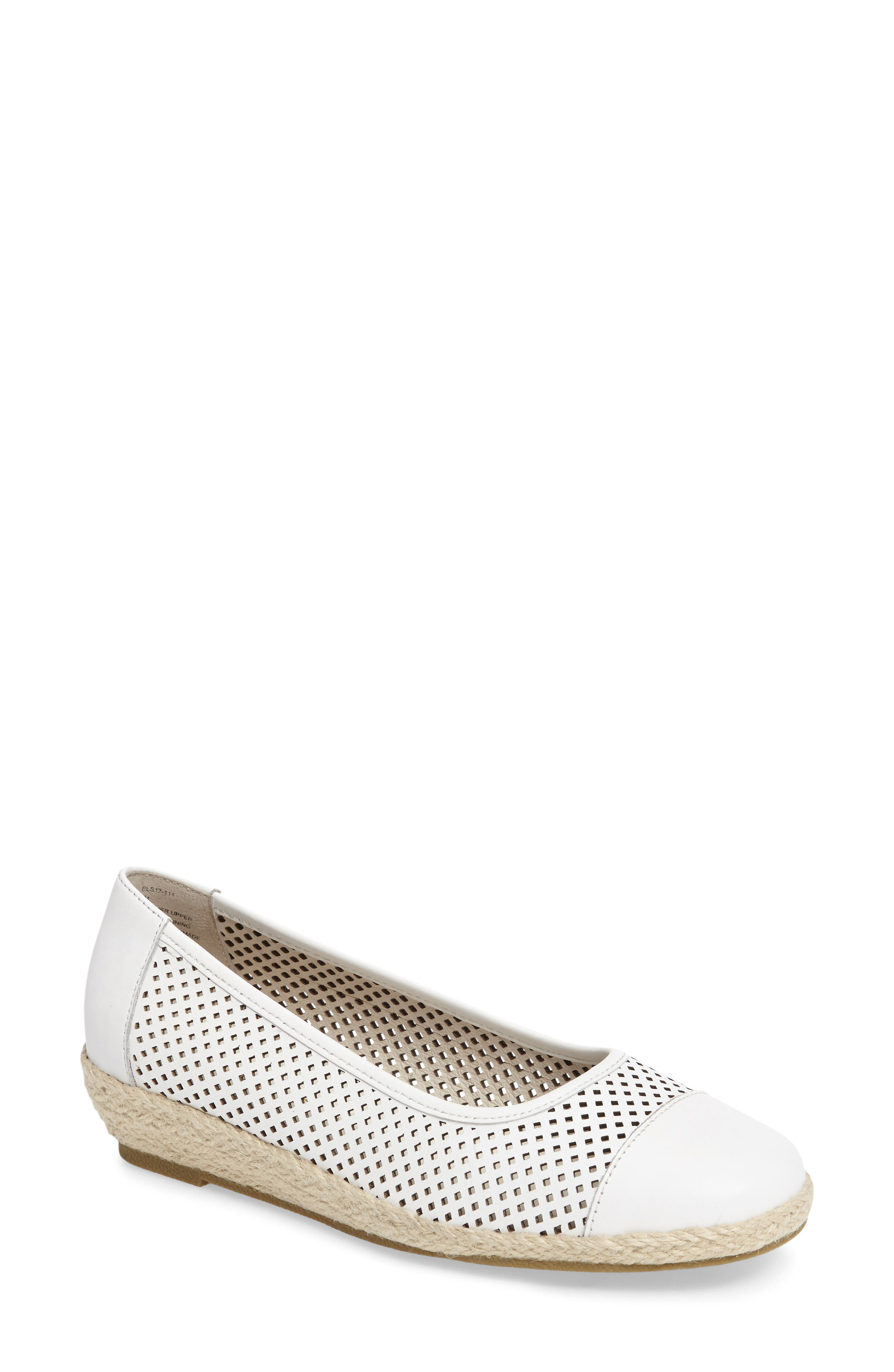 Nadine Perforated Espadrille Wedge,                             Main thumbnail 2, color,